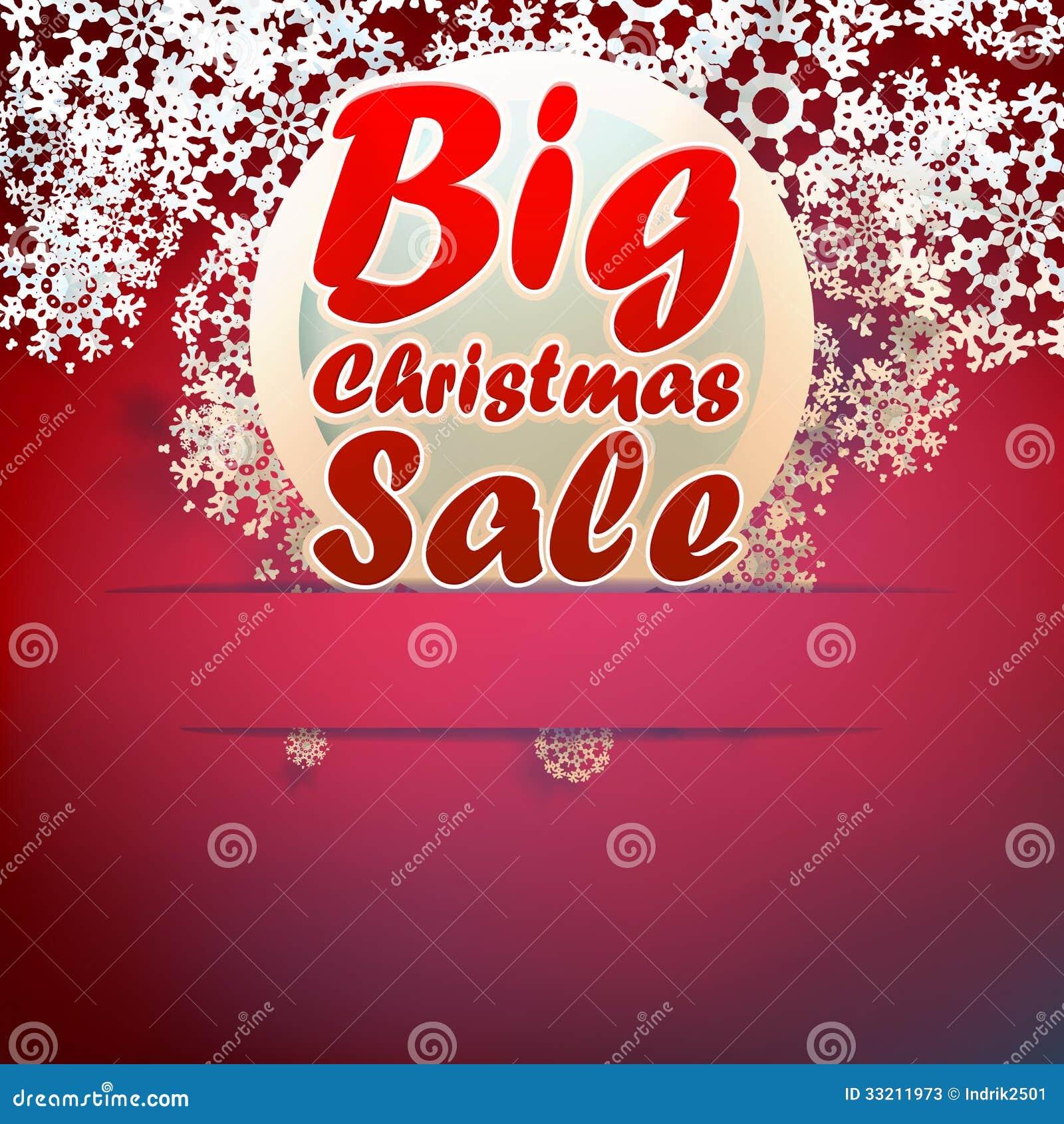 Weihnachtsgroße Verkaufsschablone. Vektor Abbildung - Illustration ...