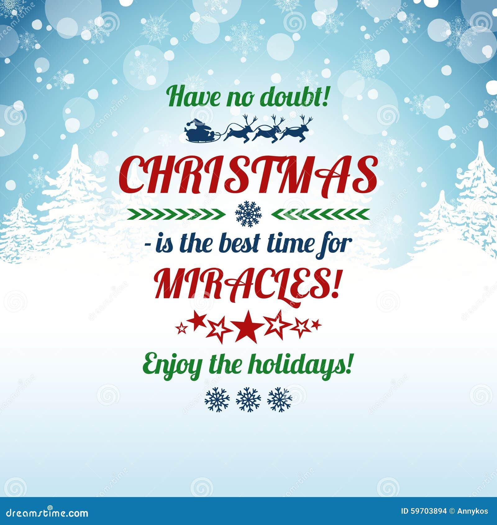 weihnachtsgru karte mit typografie text vektor abbildung illustration von karte sleigh 59703894