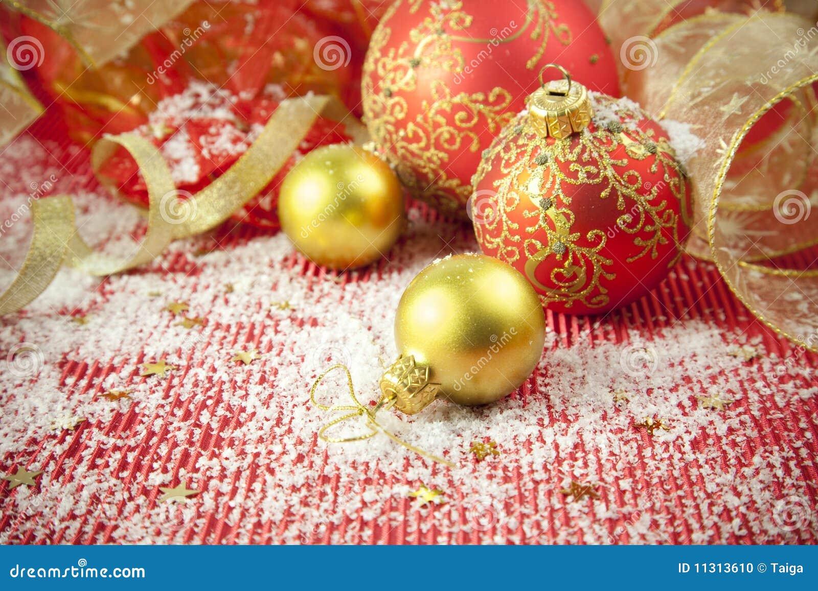 Weihnachtshintergrund-/-feiertags-Dekorationen
