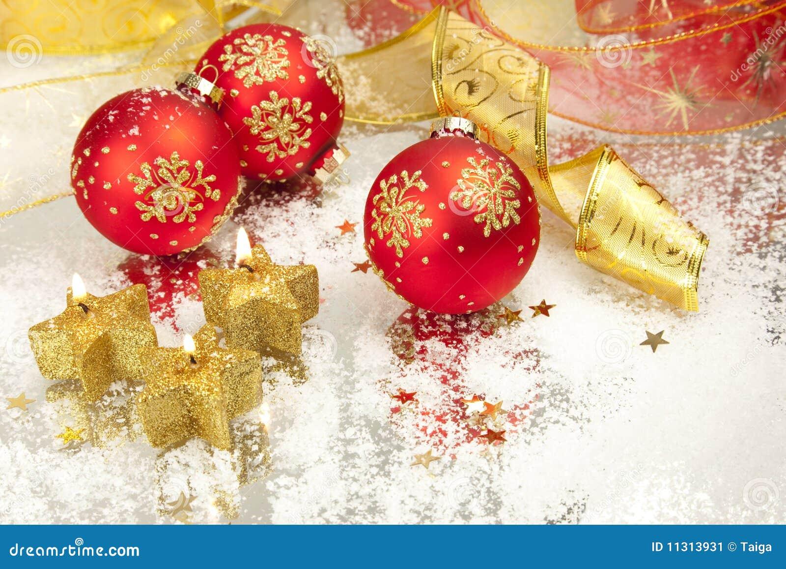 Weihnachtshintergrund-/-feiertags-Kerzen