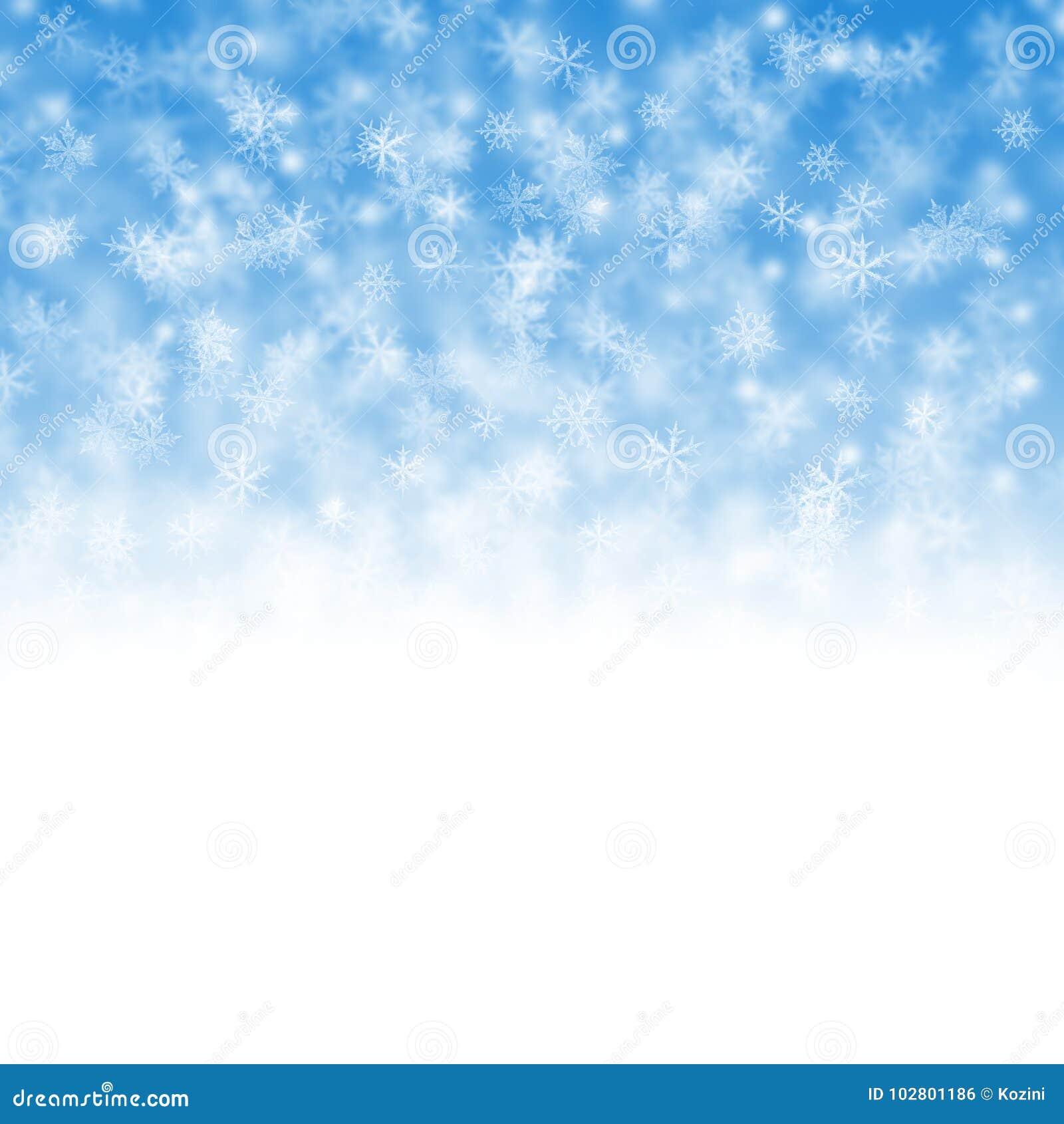 Weihnachtshintergrund mit Flocken
