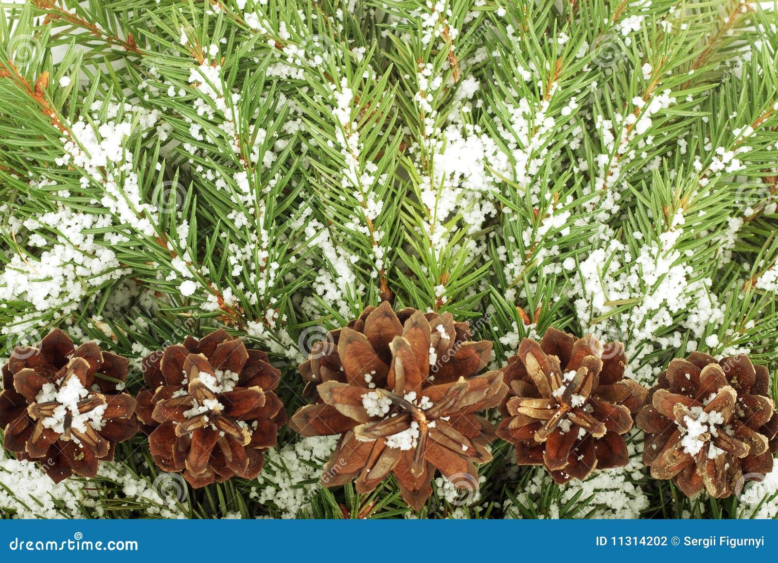 Weihnachtshintergrund mit Schnee