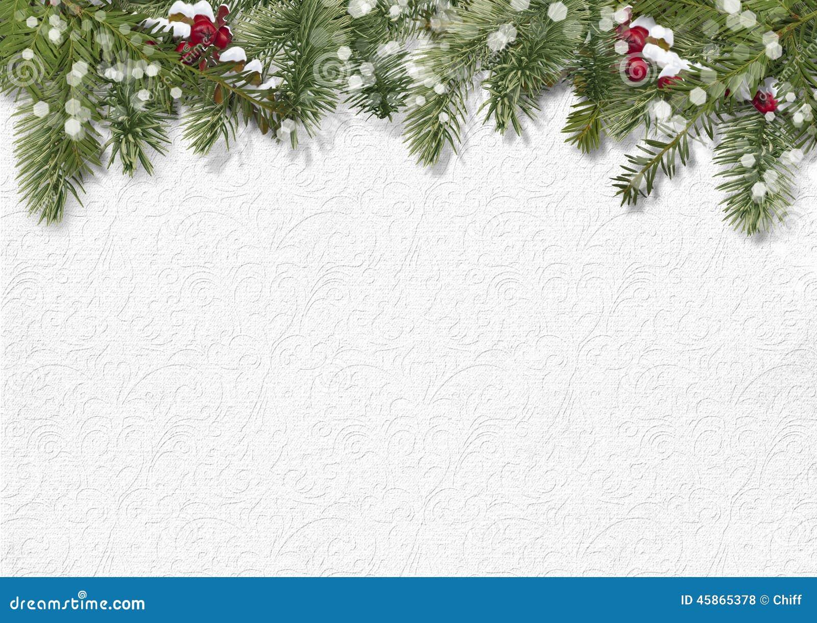 Weihnachtshintergrund mit Stechpalme, Tannenbaum