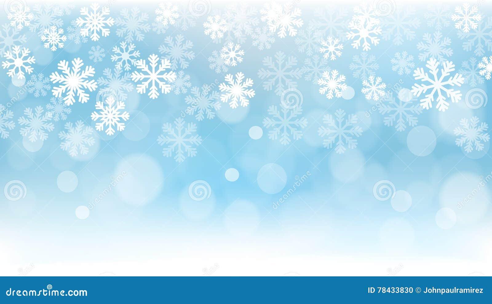 Weihnachtshintergrund, Schneeflocken, Tapete, Schnee Vektor ...