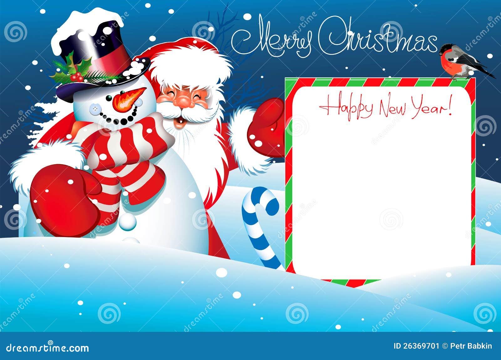 Weihnachtskarte. Beschriftung der frohen Weihnachten