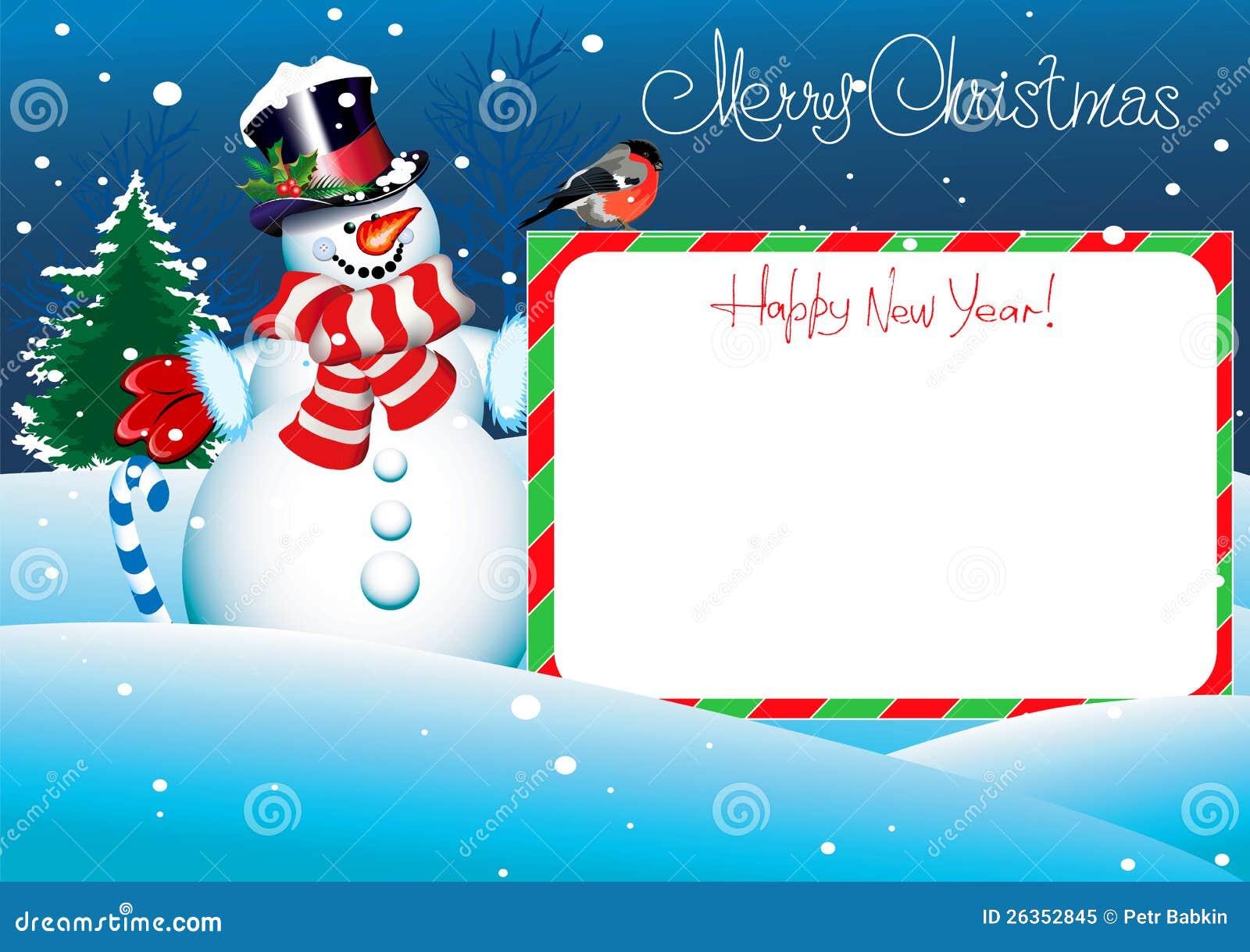 Weihnachtskarte. Beschriftung der frohen Weihnachten für Ihr