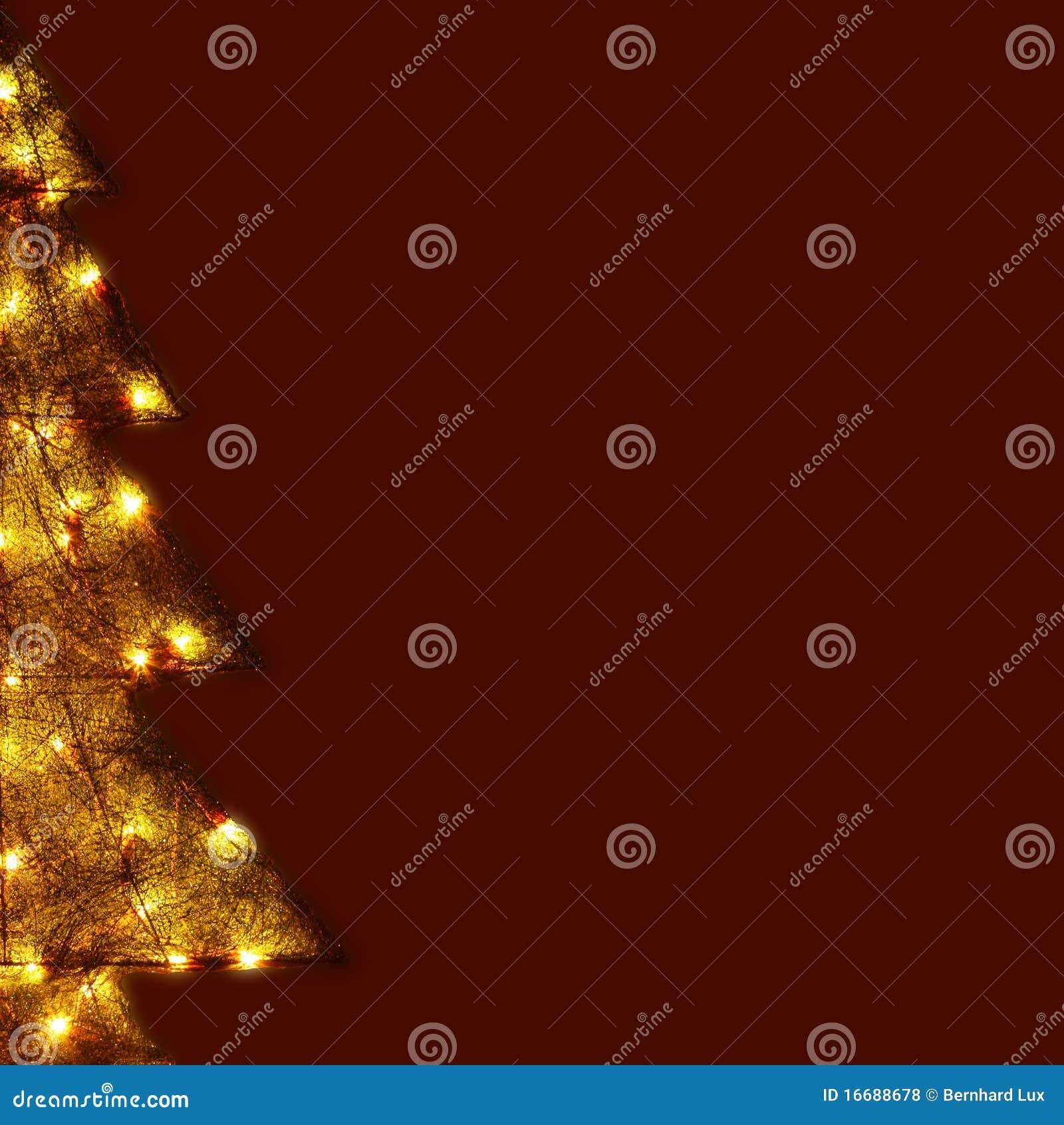 Weihnachtskarte - glänzender Baum