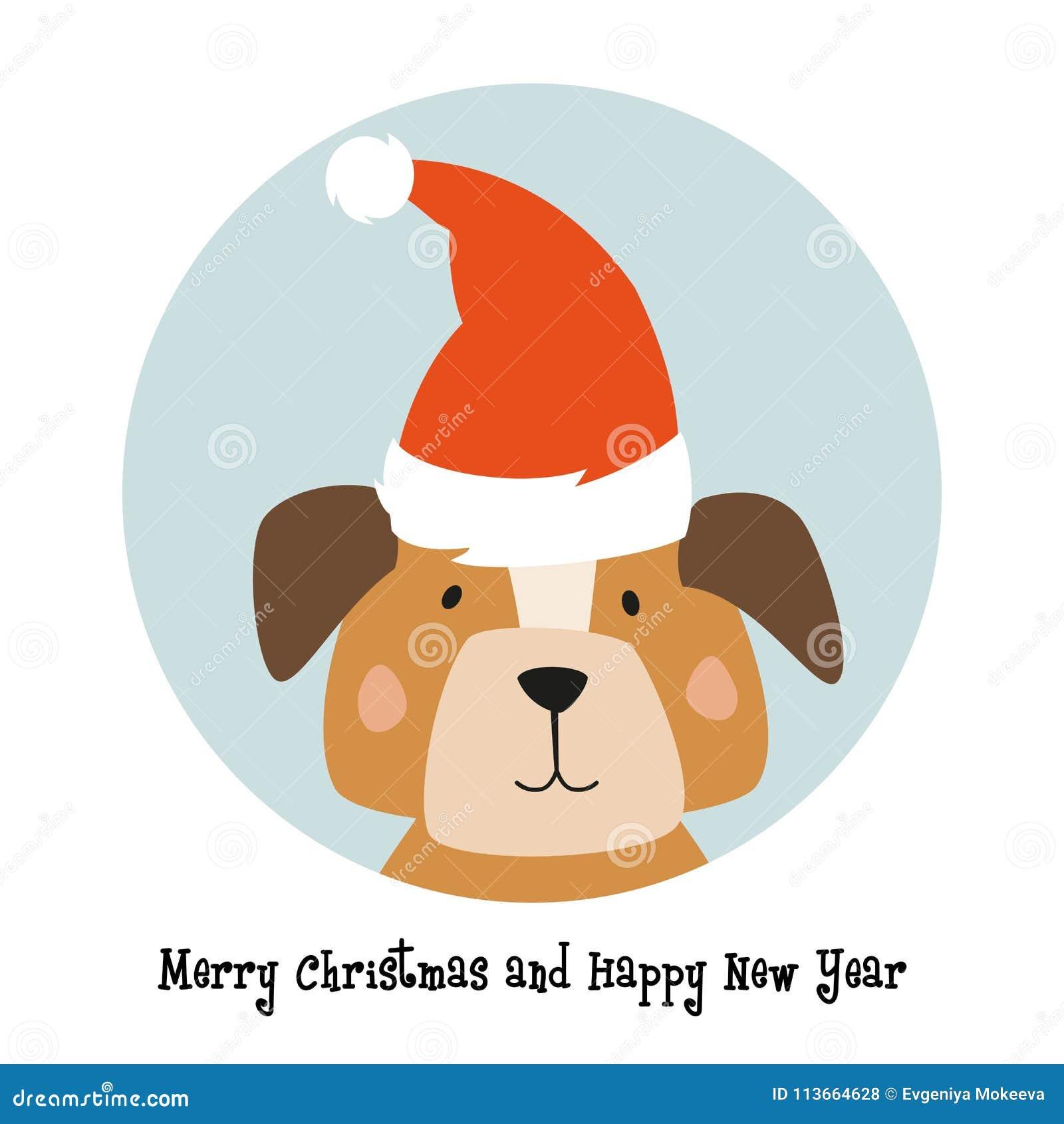 weihnachtskarte hund  baldachin