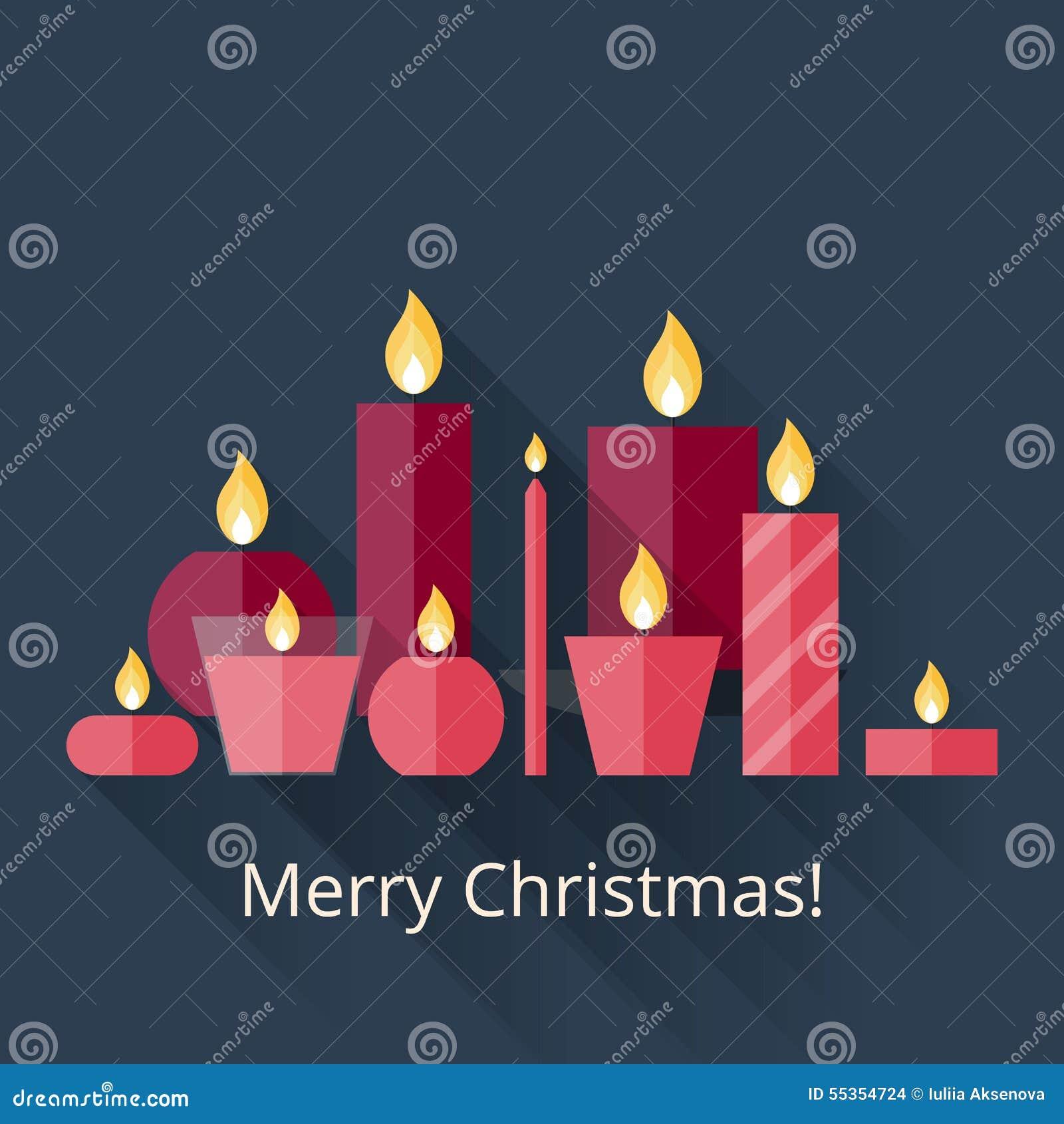 weihnachtskarte mit kerzen vektor abbildung bild 55354724. Black Bedroom Furniture Sets. Home Design Ideas