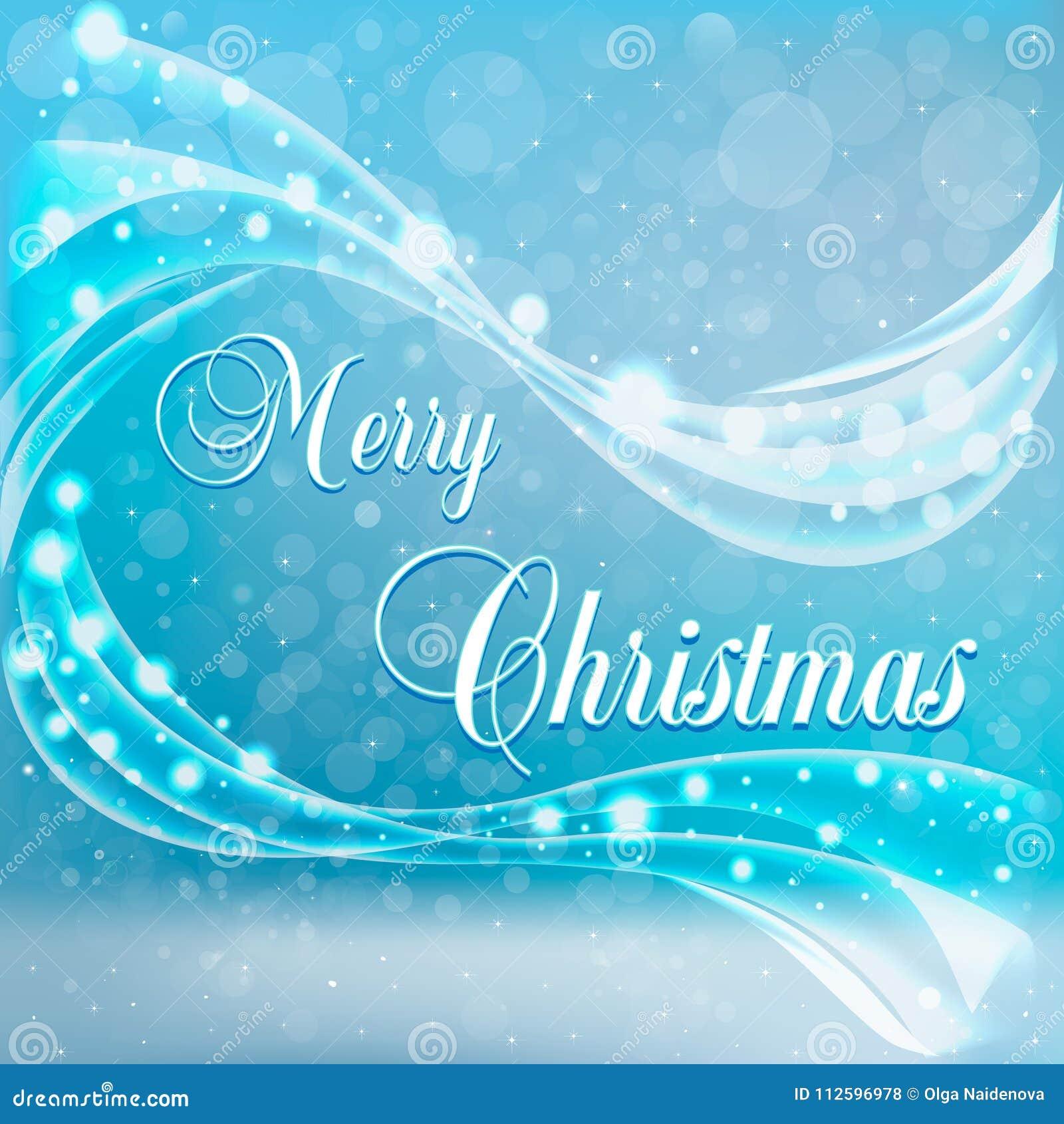 Weihnachtskarte Mit Schnee Und Wind Vektor Abbildung - Illustration ...