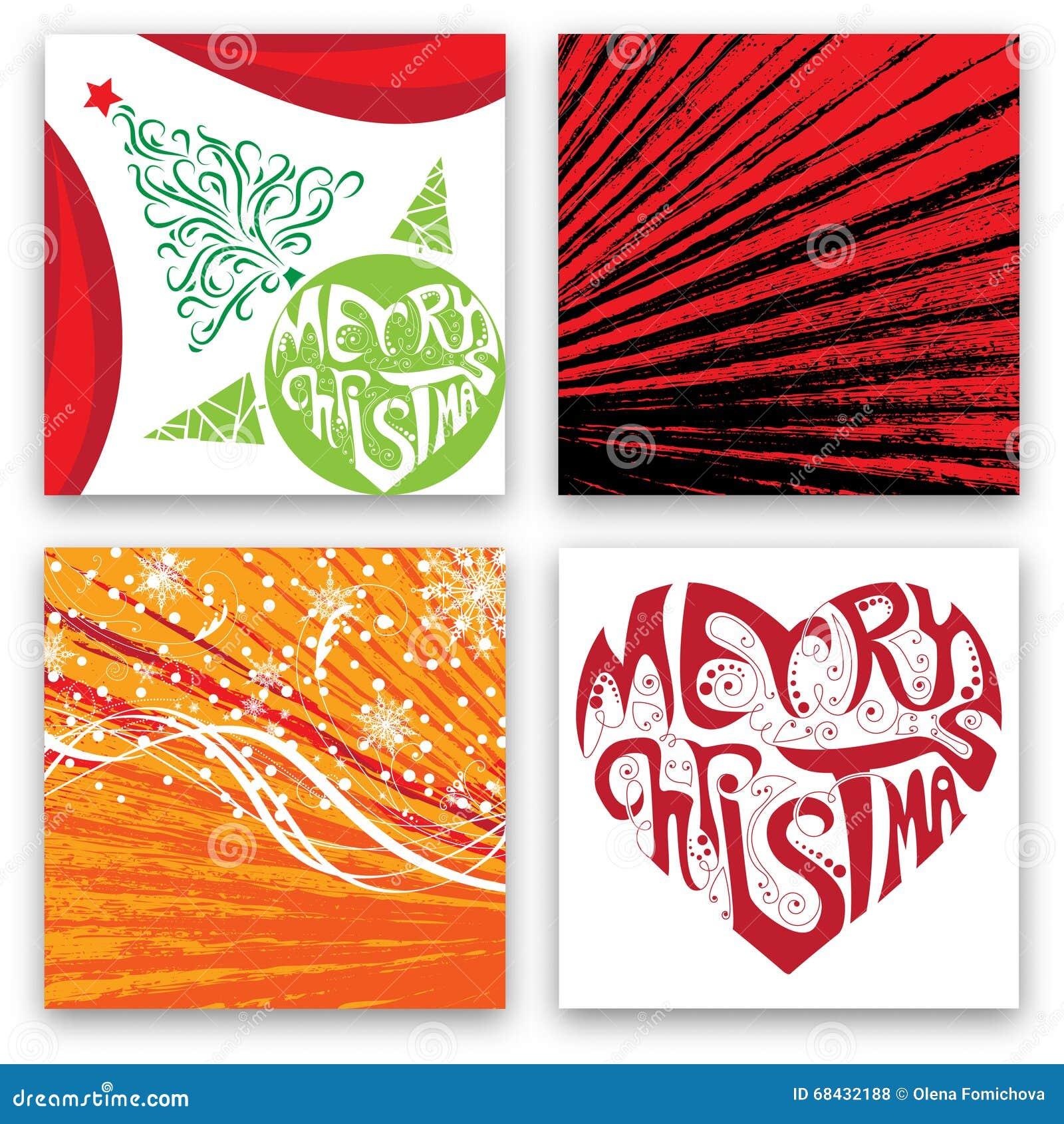 weihnachtskarten design satz vektor abbildung. Black Bedroom Furniture Sets. Home Design Ideas