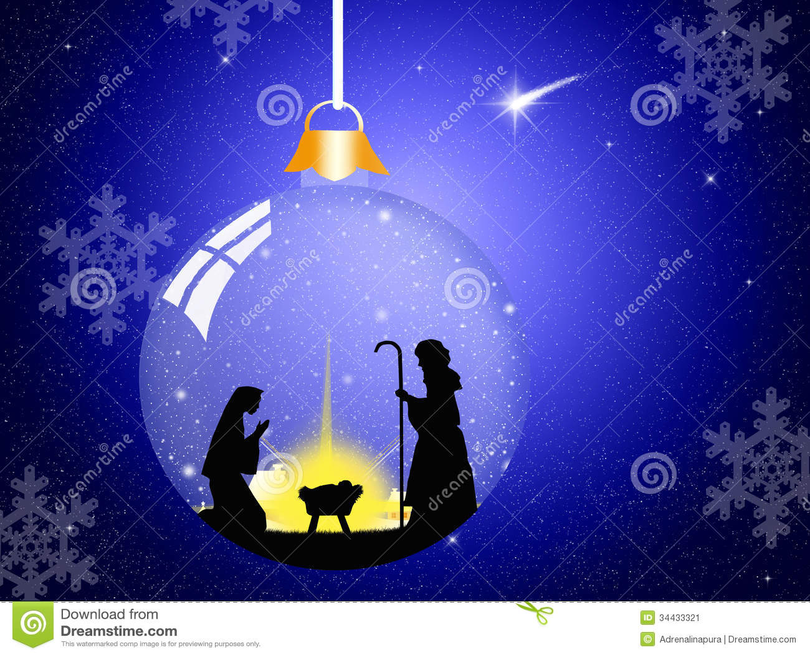 Weihnachtskrippe stock abbildung. Illustration von leuchte - 34433321