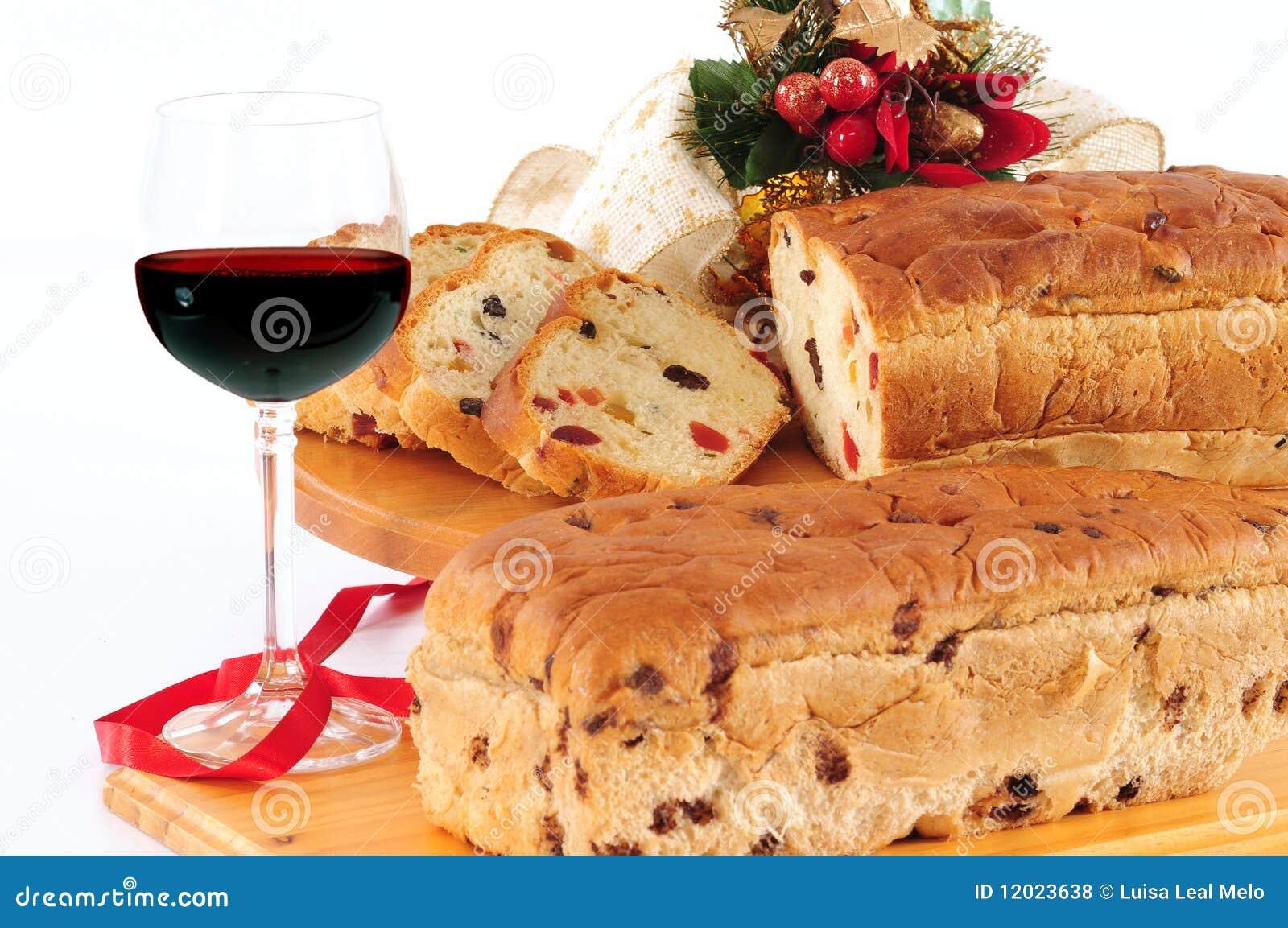 Weihnachtskuchen. Panettone.
