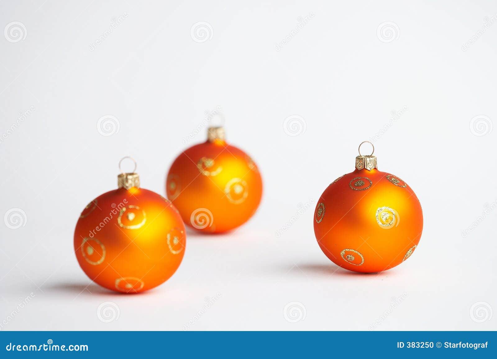 Weihnachtskugeln померанцового вала рождества шариков
