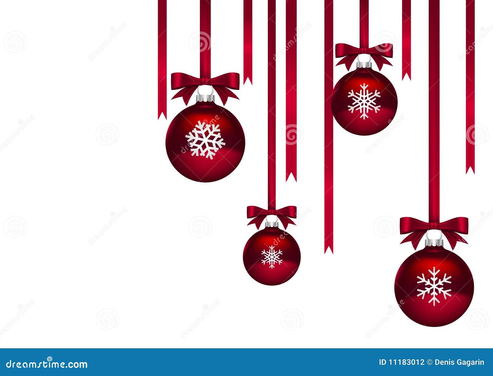 weihnachtskugeln rot stockfotografie bild 11183012. Black Bedroom Furniture Sets. Home Design Ideas