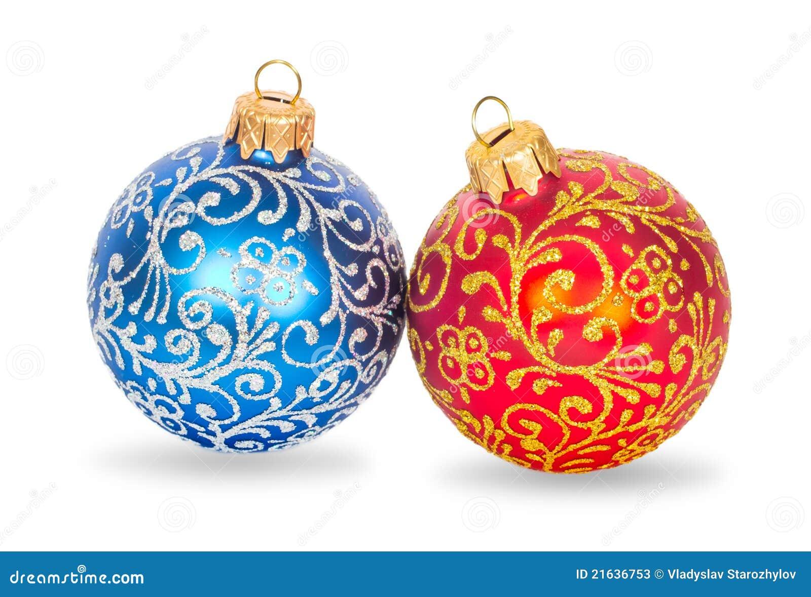 weihnachtskugeln rot und blau stockbild bild von farbe symbol 21636753. Black Bedroom Furniture Sets. Home Design Ideas