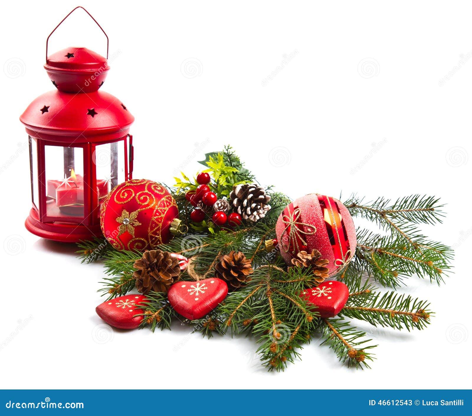 weihnachtskugeln und tannenzweige mit dekorationen. Black Bedroom Furniture Sets. Home Design Ideas