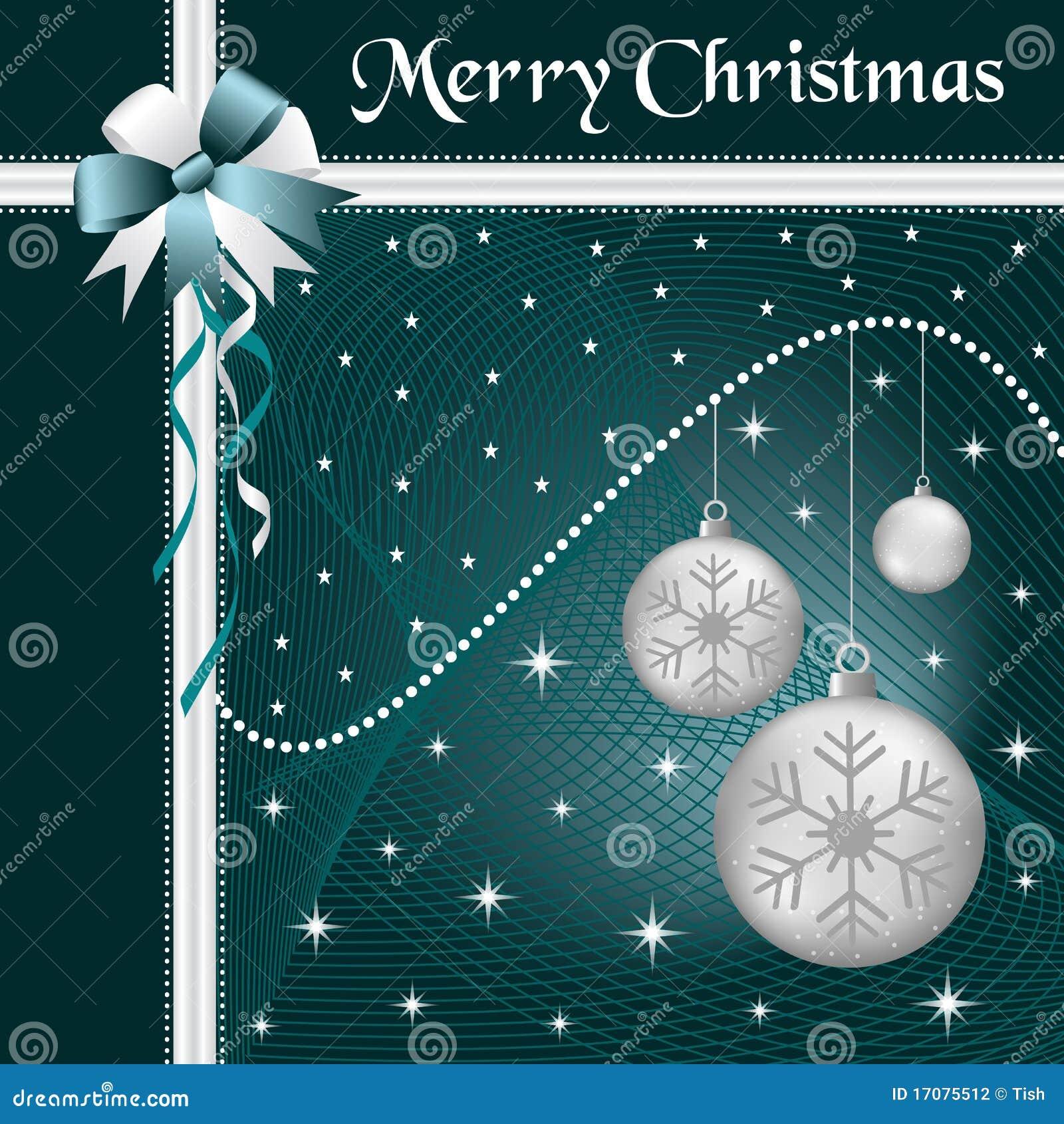 Weihnachtskugelsilber und -bogen