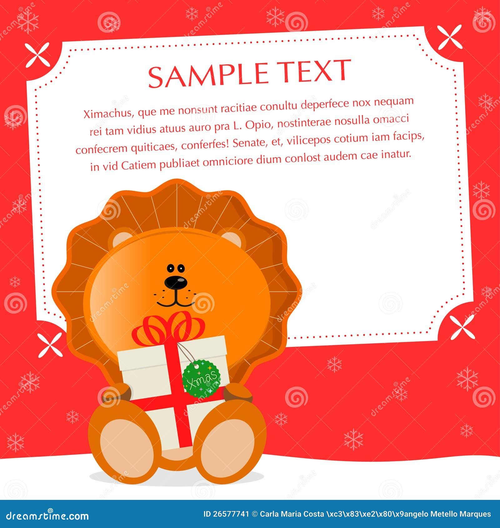 Weihnachtslöwe