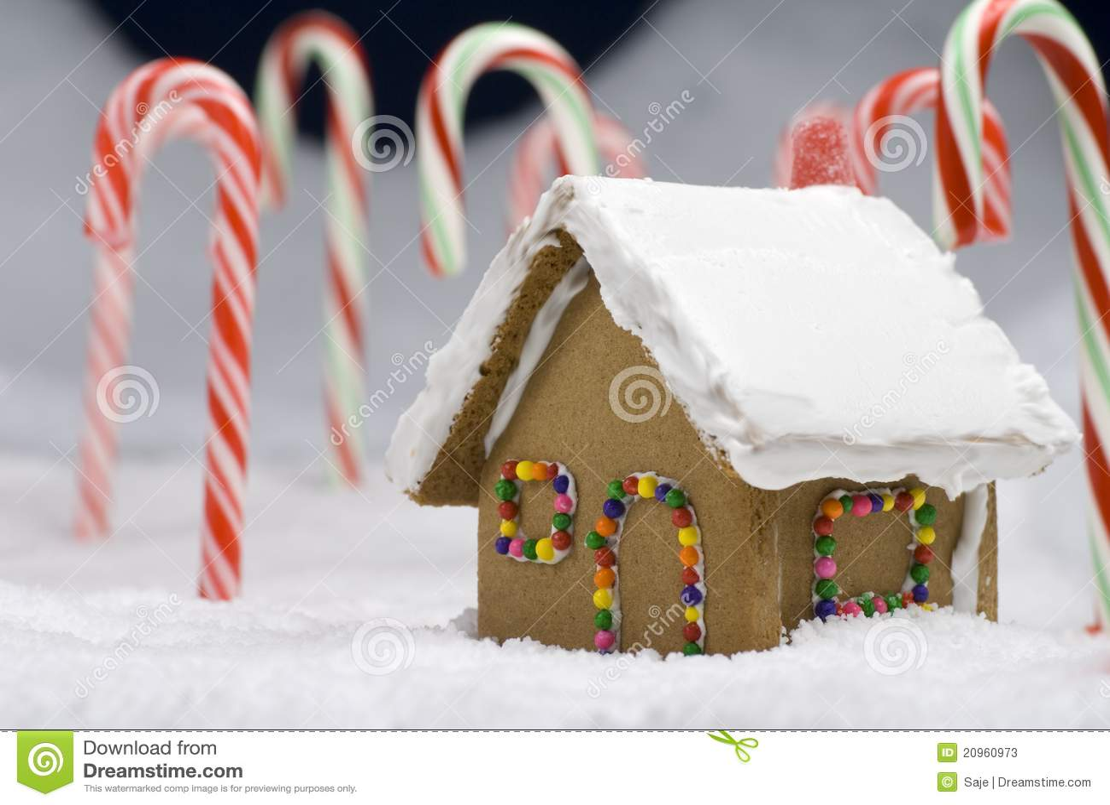 Weihnachtslebkuchen-Haus-Nahaufnahme