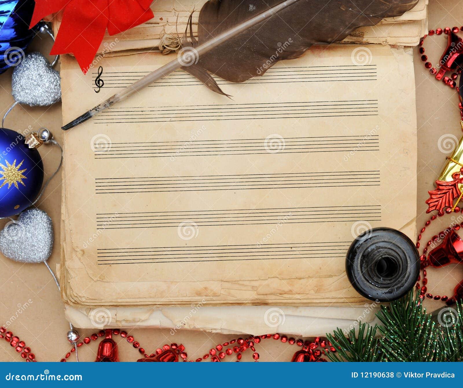 Weihnachtslied stockfoto. Bild von musik, klassisch, celebrate ...