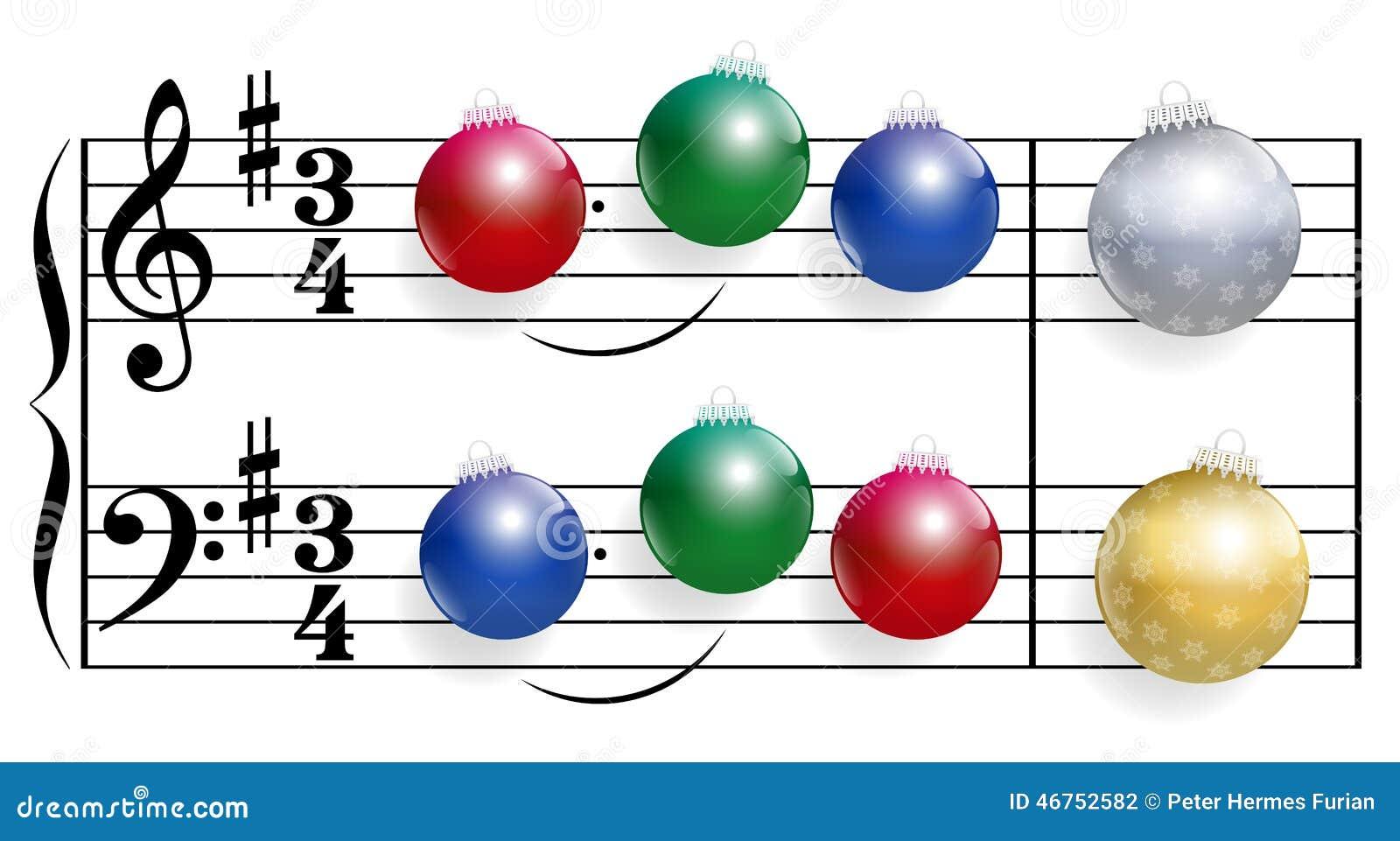 Weihnachtslied-Bälle vektor abbildung. Illustration von anmerkungen ...