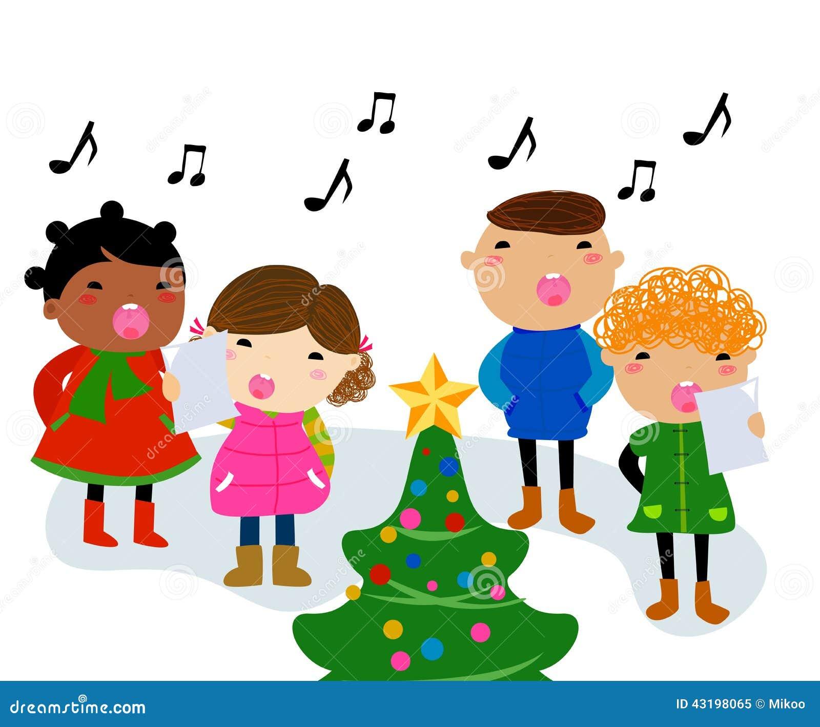 Weihnachtslieder vektor abbildung. Illustration von lied - 43198065