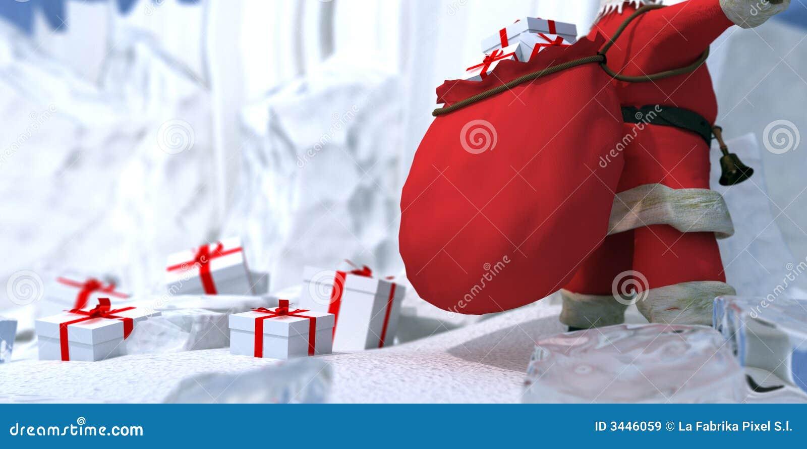 weihnachtsmann auf den nordpol stockbild bild von. Black Bedroom Furniture Sets. Home Design Ideas