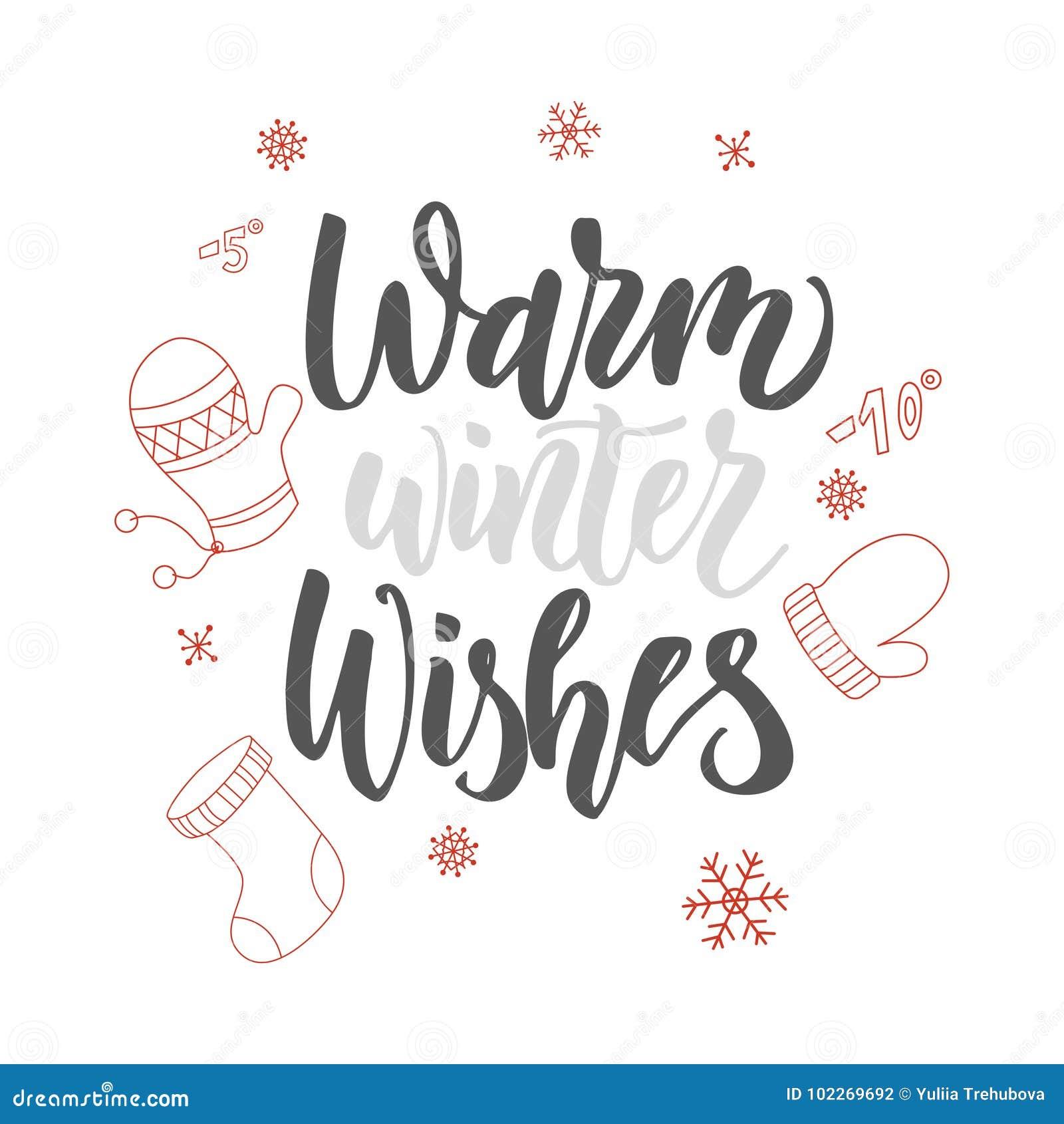 Weihnachtsmann Auf Einem Schlitten Warme Winter-Wünsche Hand ...