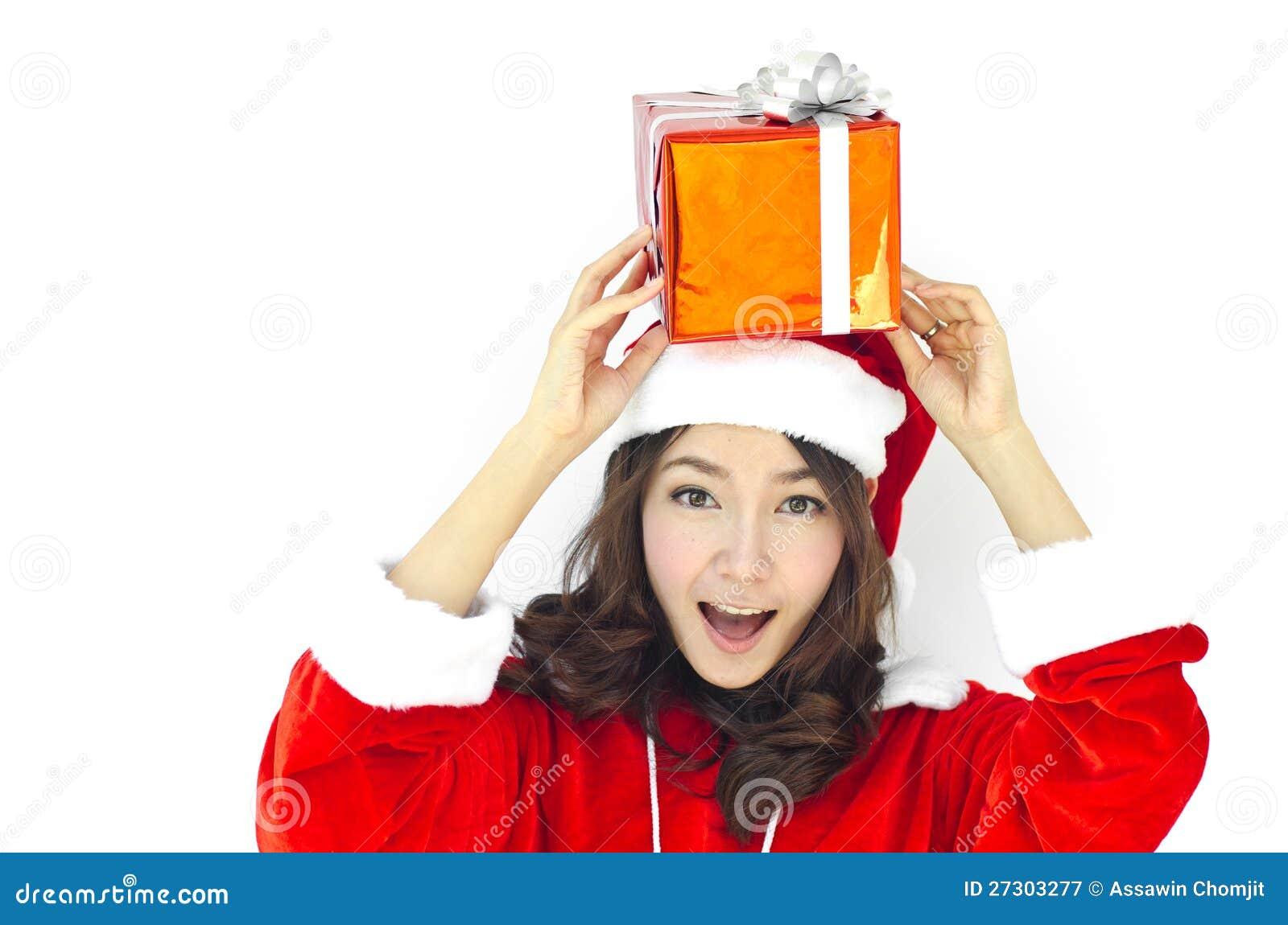Weihnachtsmann-Hut mit grauem Weihnachten