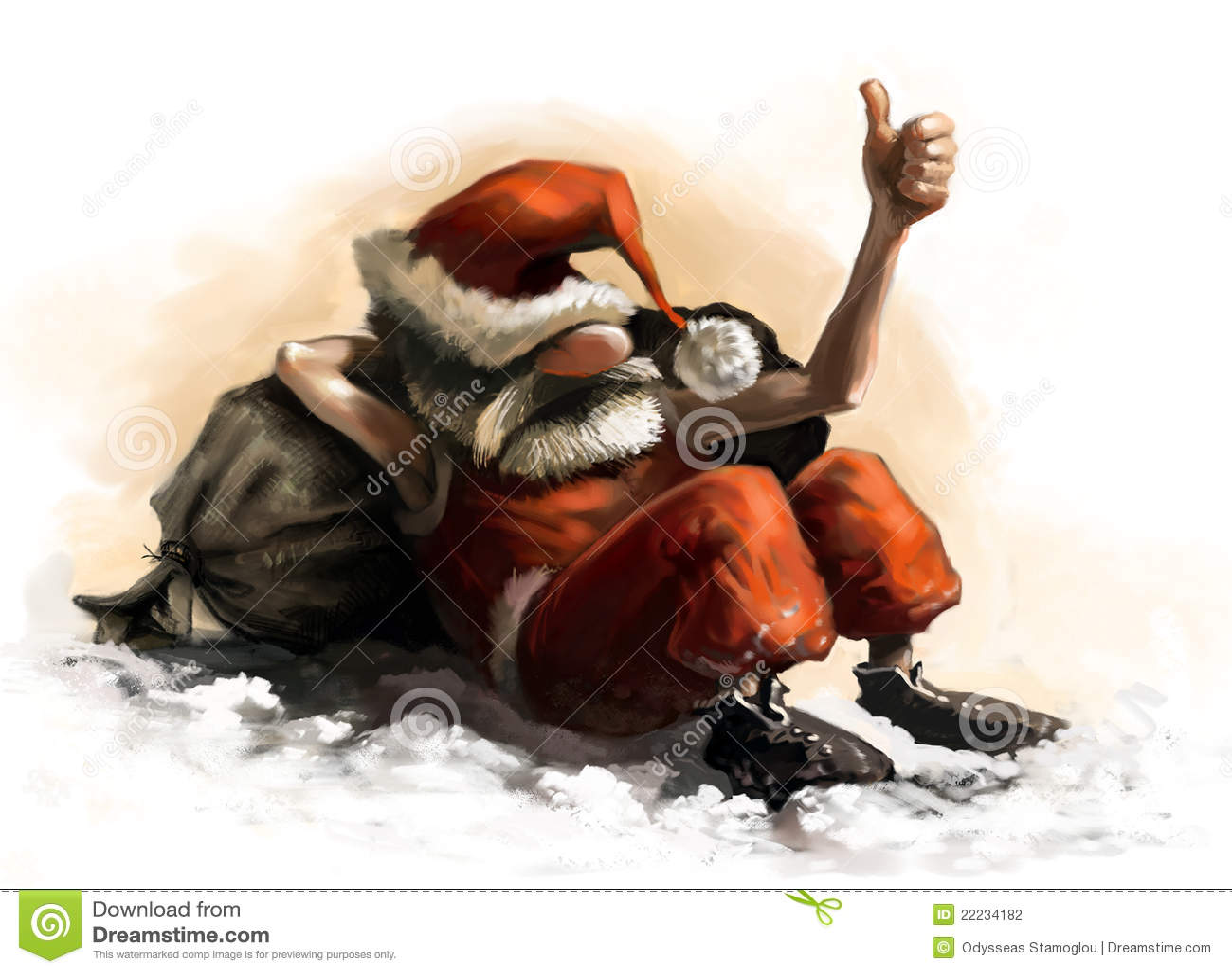 weihnachtsmann karikatur stock abbildung illustration von bart 22234182