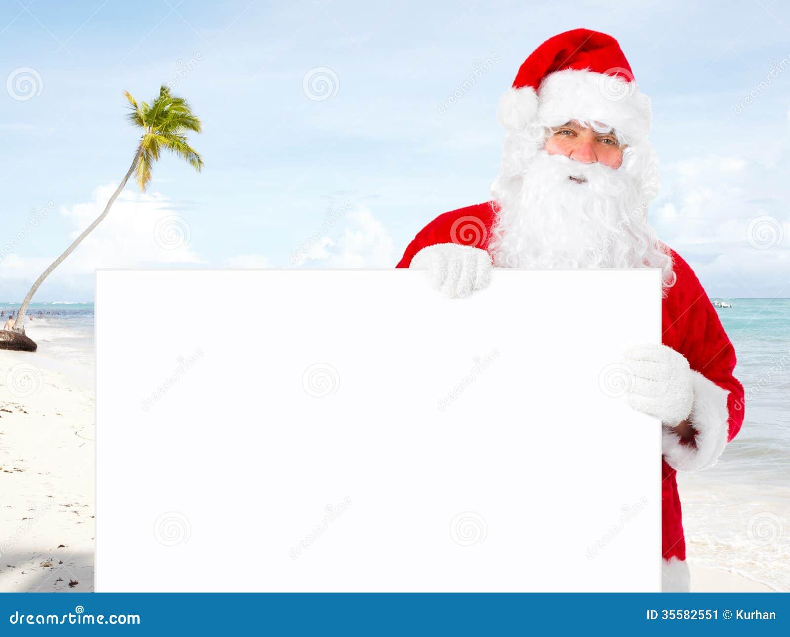 Weihnachtsmann mit Fahne