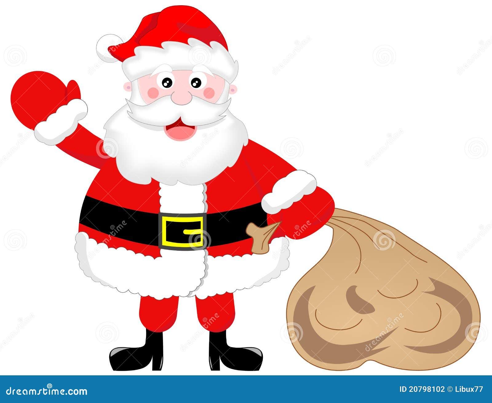 weihnachtsmann mit sack stock abbildung bild von geschenk. Black Bedroom Furniture Sets. Home Design Ideas