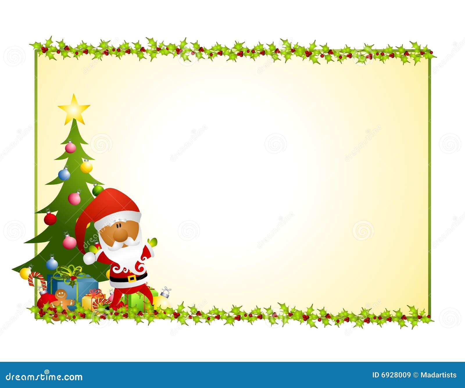 Weihnachtsmann-Stechpalme-Hintergrund 2 Lizenzfreie Stockbilder - Bild ...