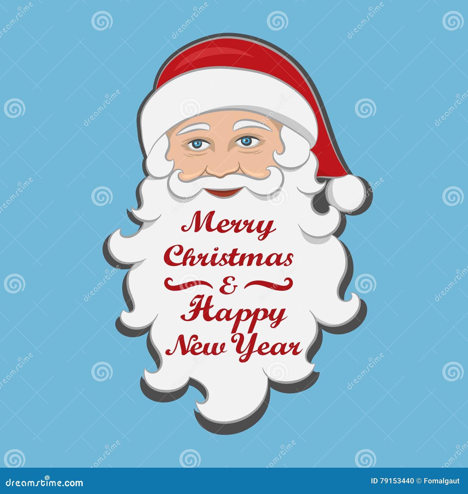 Weihnachtsmann Trennte Mitteilung Der Frohen Weihnachten Und Des ...