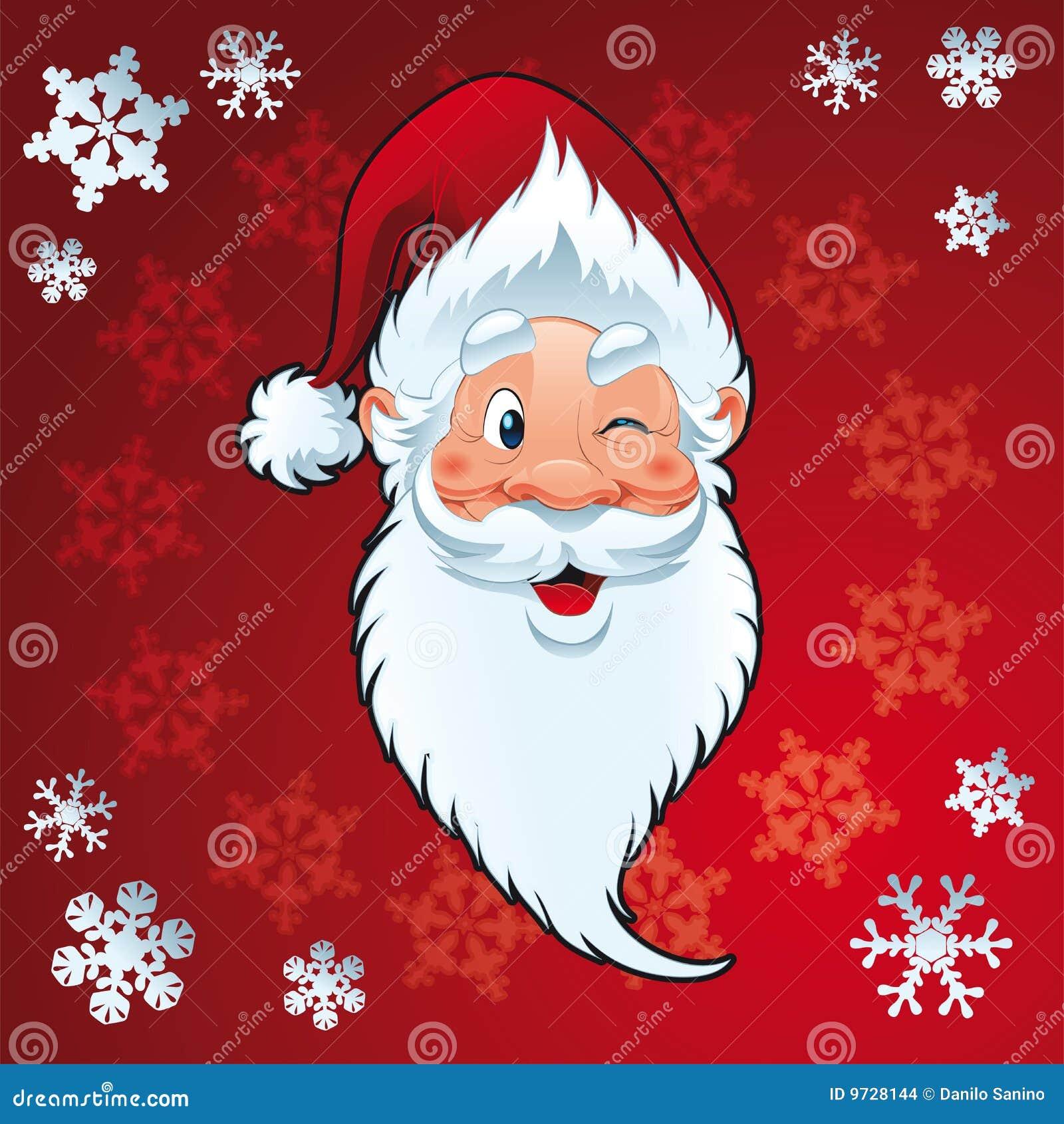 weihnachtsmann weihnachtskarte stockbilder bild 9728144. Black Bedroom Furniture Sets. Home Design Ideas
