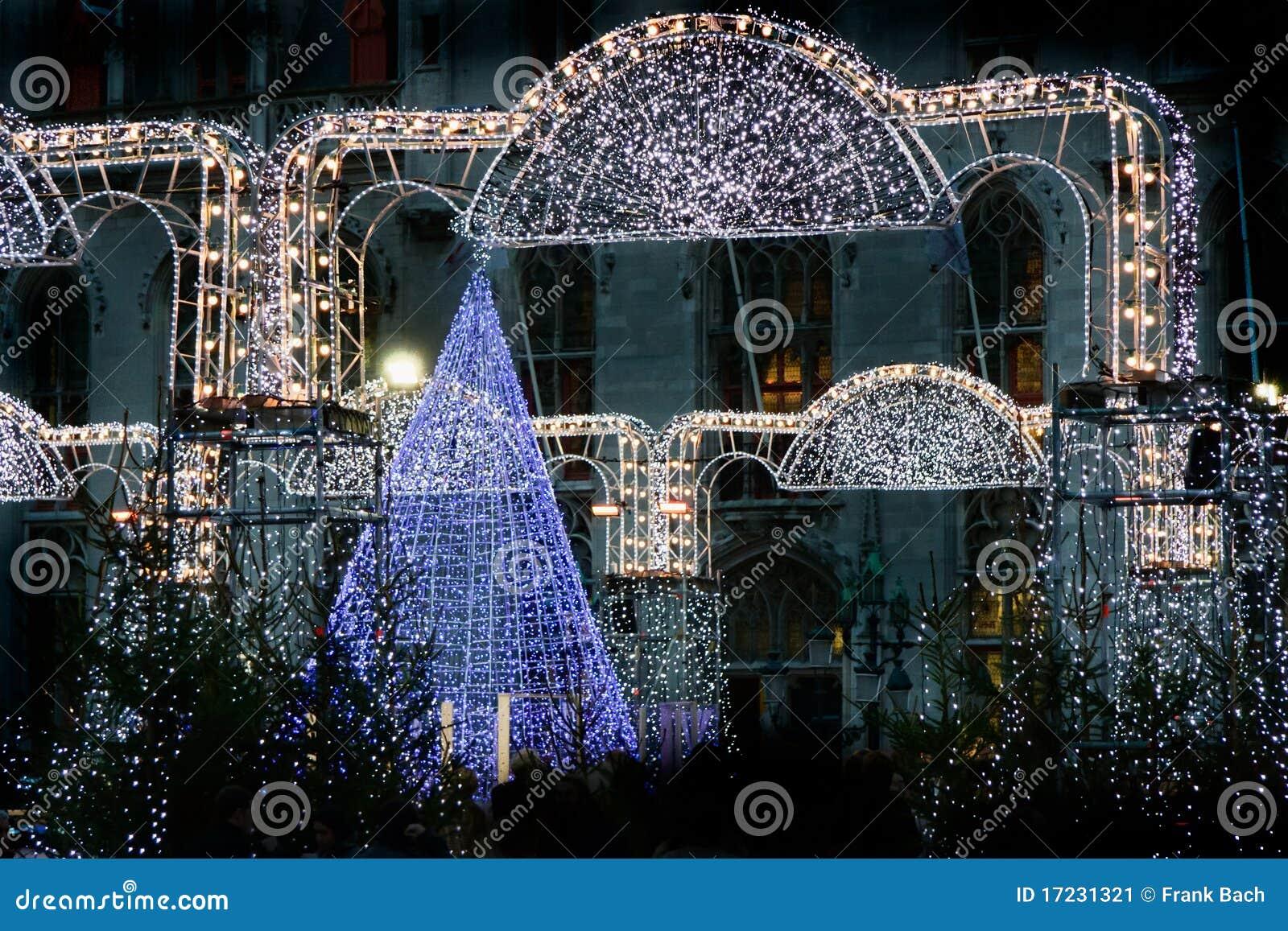 weihnachtsmarkt in br gge belgien stockbild bild 17231321. Black Bedroom Furniture Sets. Home Design Ideas