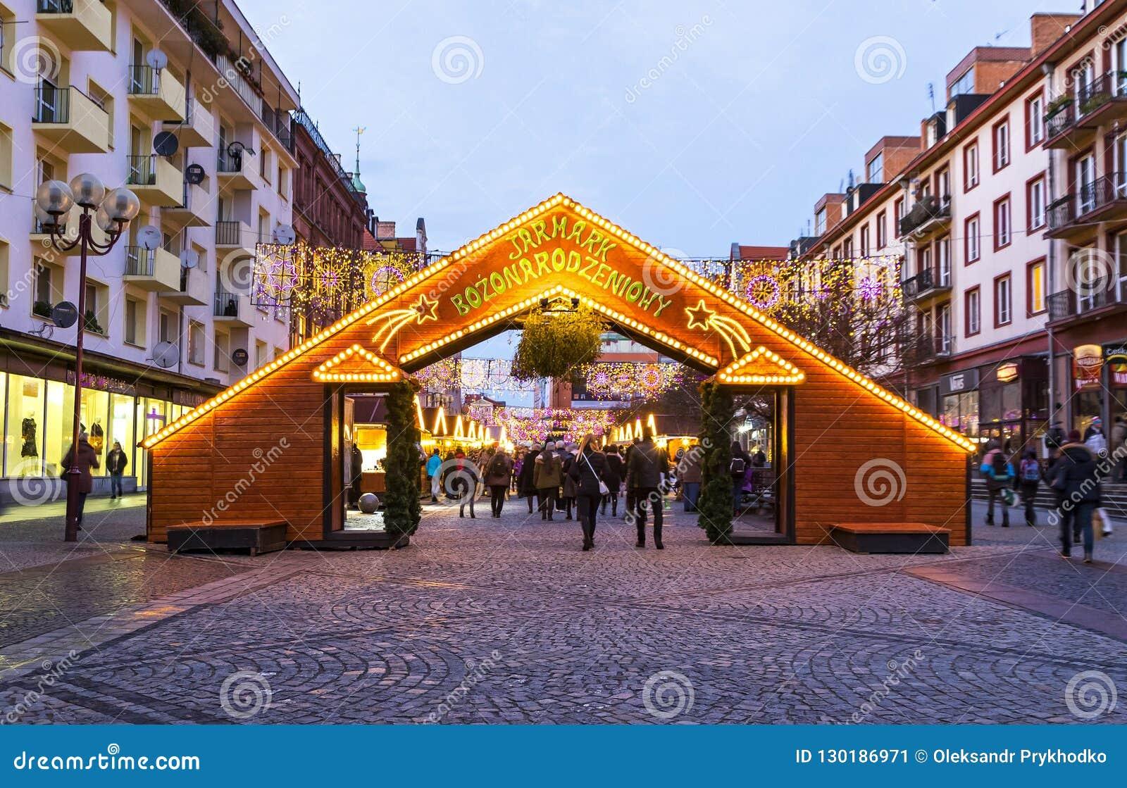 Weihnachtsmarkt in Breslau, Polen