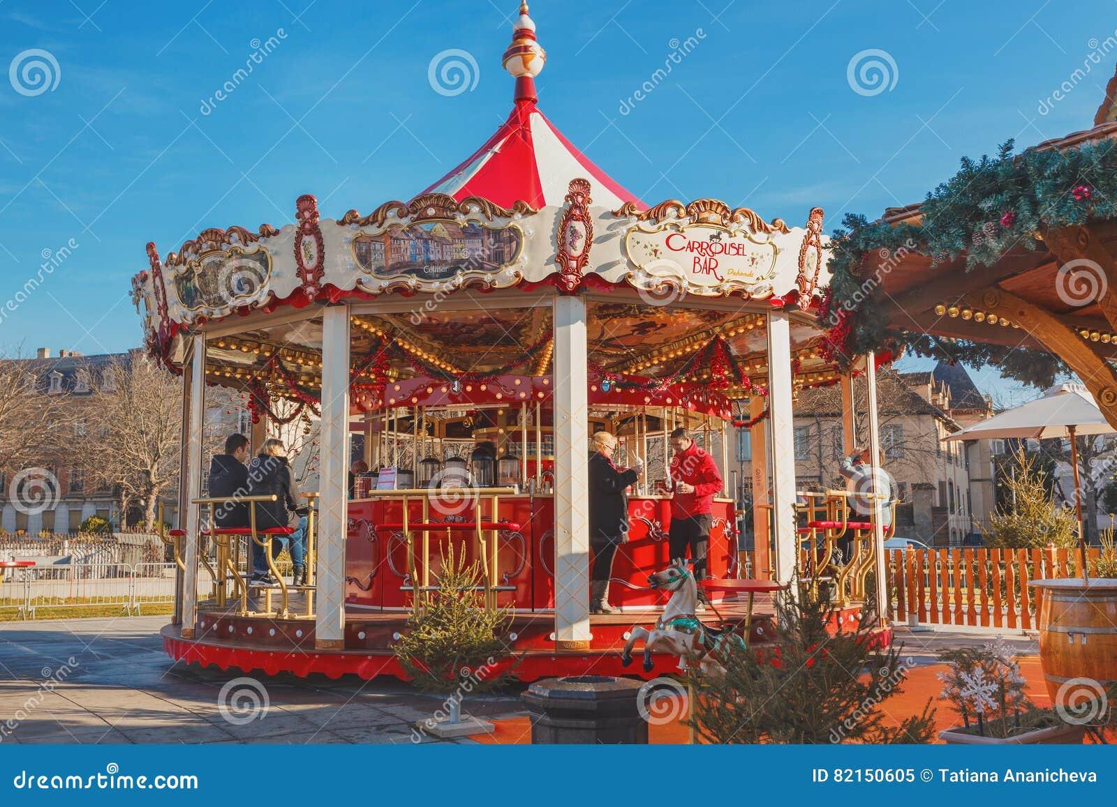 Colmar Weihnachtsmarkt.Weihnachtsmarkt In Colmar Redaktionelles Bild Bild Von Glas 82150605