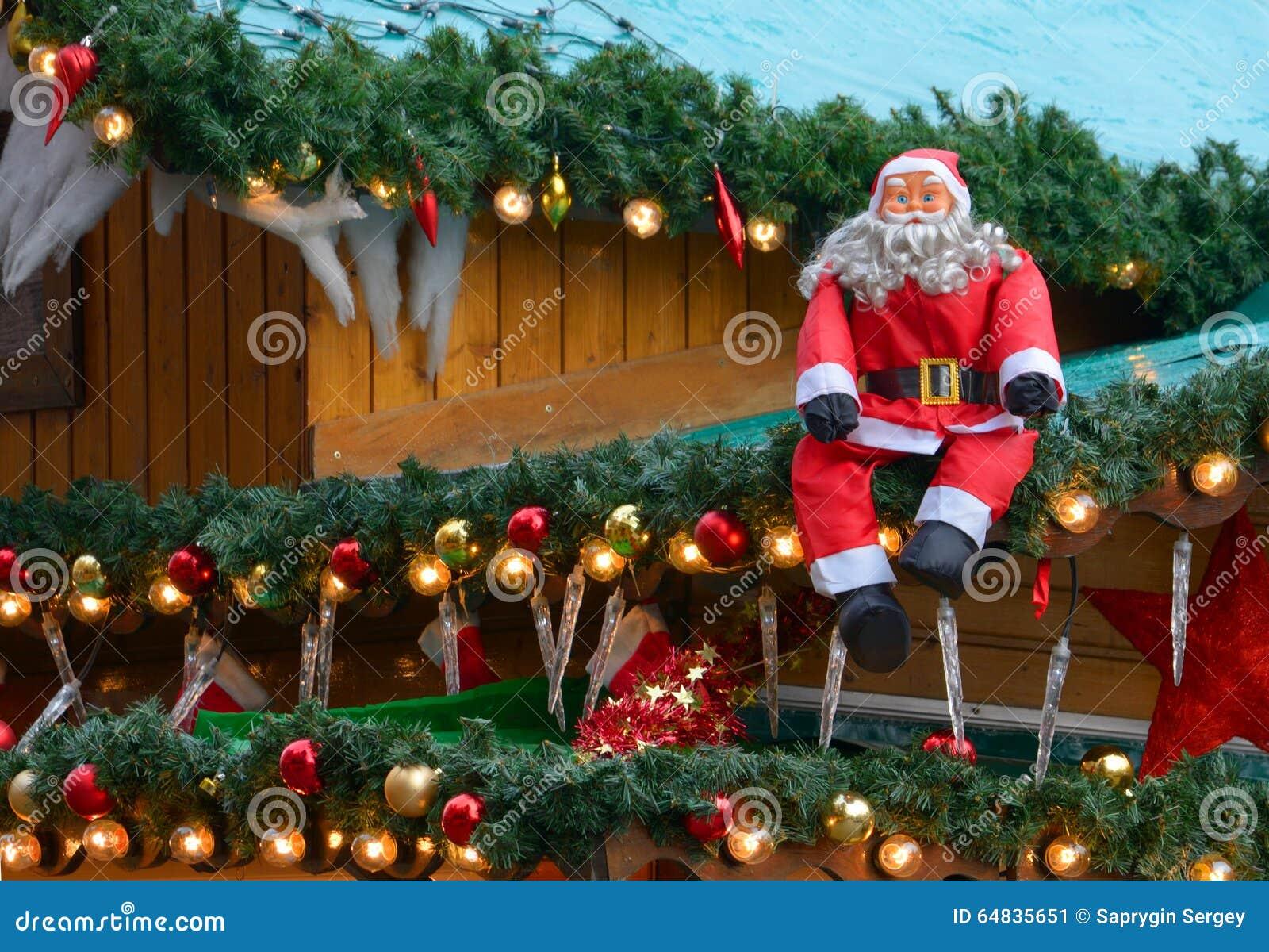 Weihnachtsmarkt Dekoration Stockbild Bild 64835651