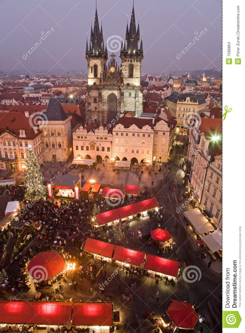 weihnachtsmarkt in prag stockfoto bild von markt. Black Bedroom Furniture Sets. Home Design Ideas