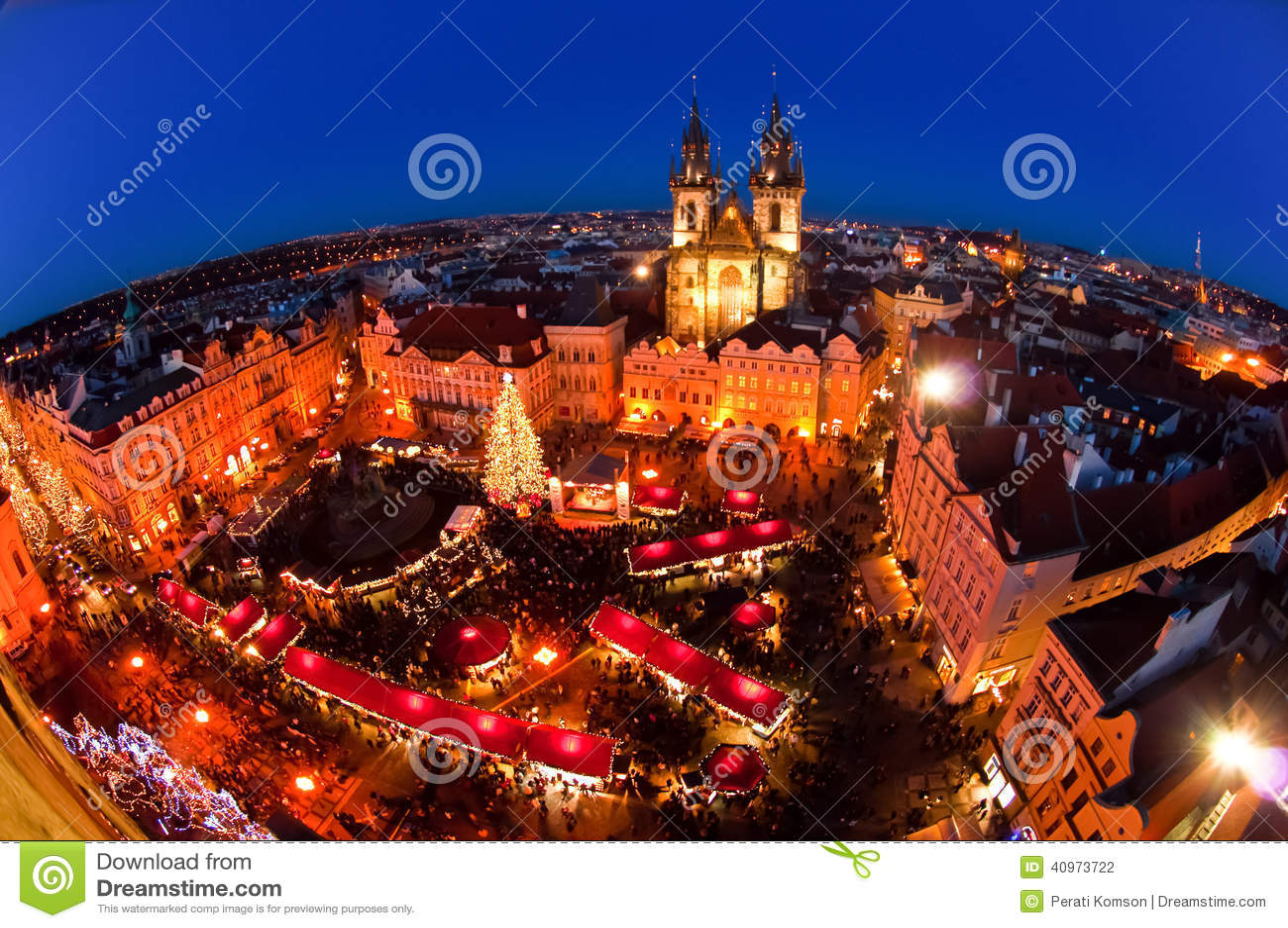 weihnachtsmarkt in prag tschechische republik stockfoto. Black Bedroom Furniture Sets. Home Design Ideas