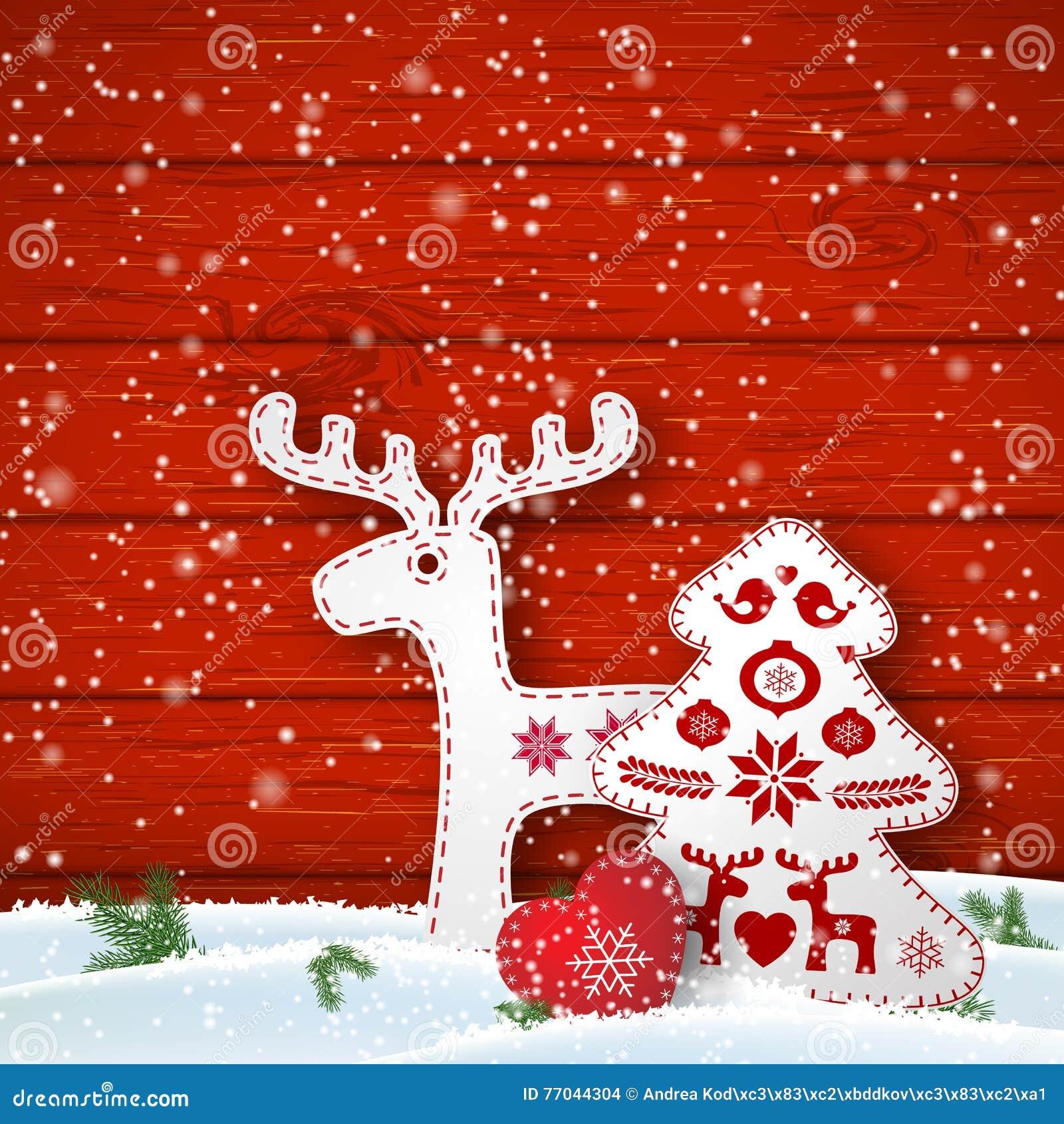 Weißer Weihnachtsbaum Auf Roter Wand Stockfoto - Bild: 16717060