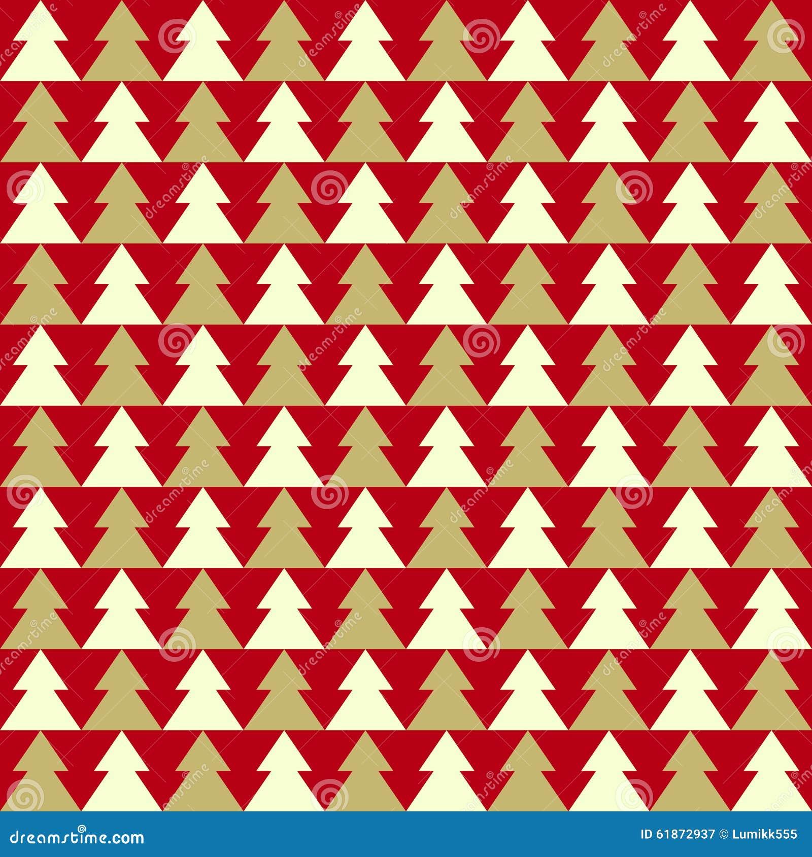 Tannenbaum Muster.Weihnachtsnahtloses Muster Mit Tannenbaum Vektor Abbildung