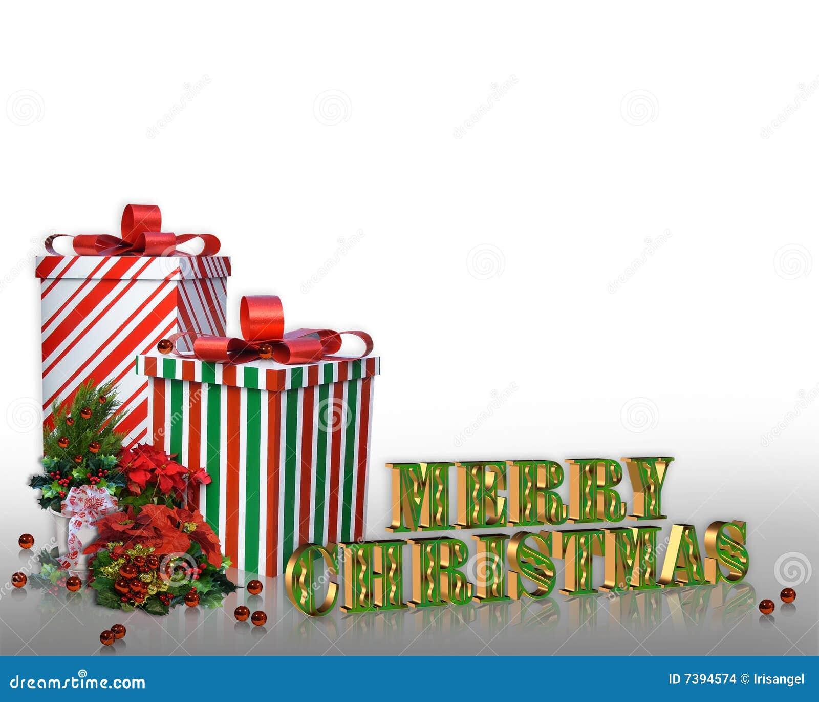 Weihnachtsrandgeschenke Und -blumen Stock Abbildung - Illustration ...