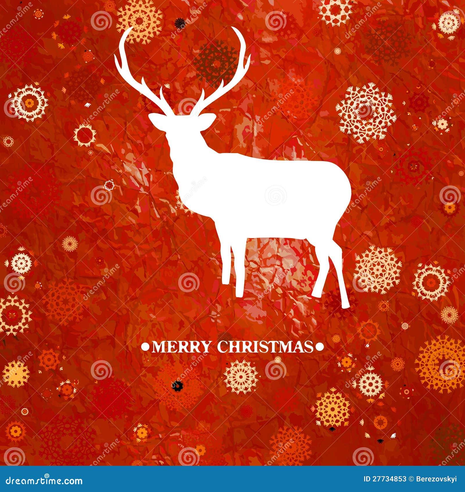 Weihnachtsrotwild cintage Karte. ENV 8