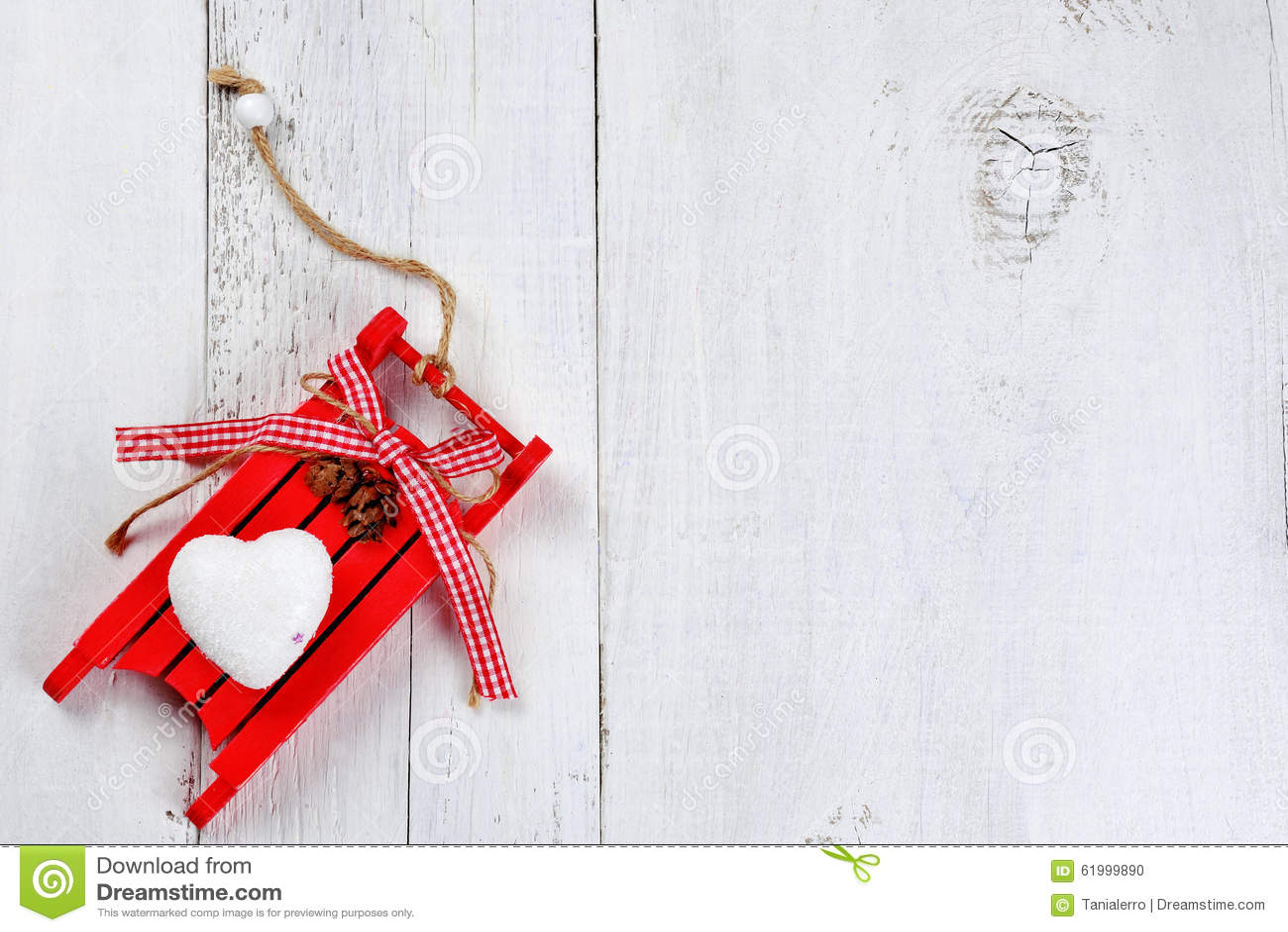 Weihnachtsschlitten Auf Hölzernem Hintergrund Stockfoto - Bild von ...