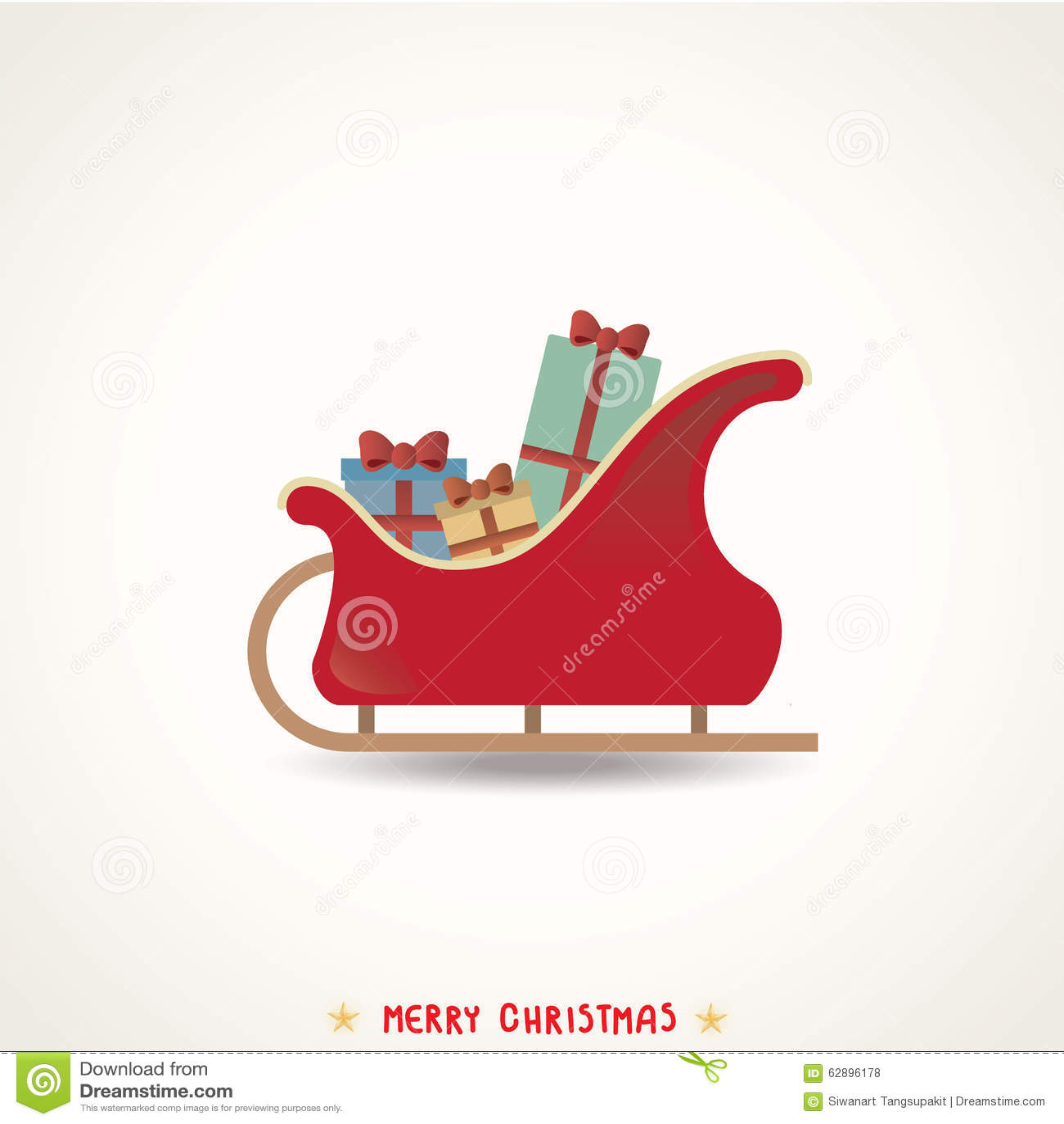 Weihnachtsschlitten Hintergrund Stock Abbildung - Illustration von ...