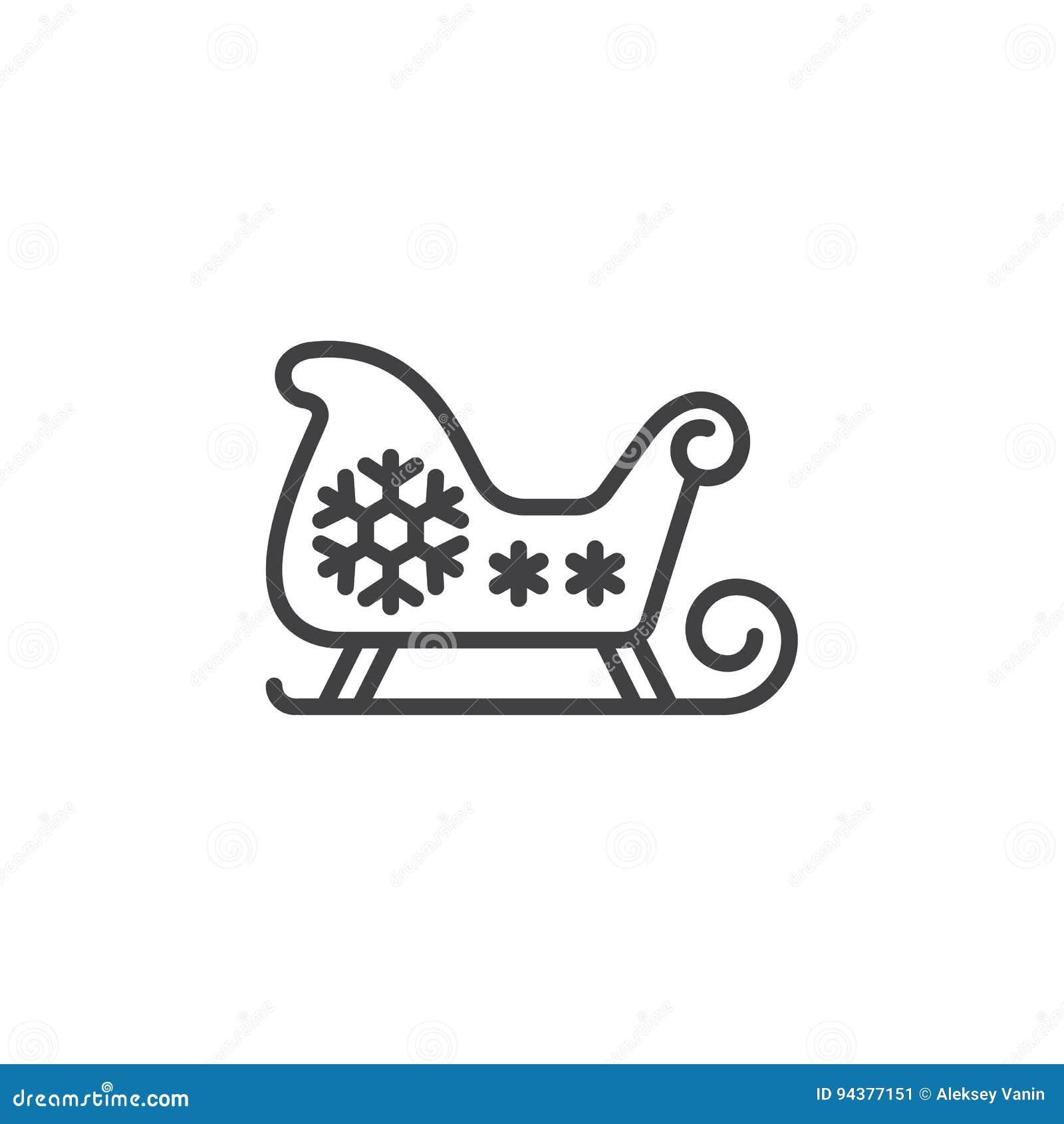 Weihnachtsschlitten, Sankt-` S Pferdeschlittenlinie Ikone ...