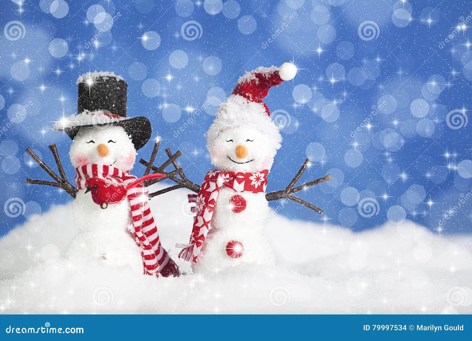 Weihnachtsschnee-Leute